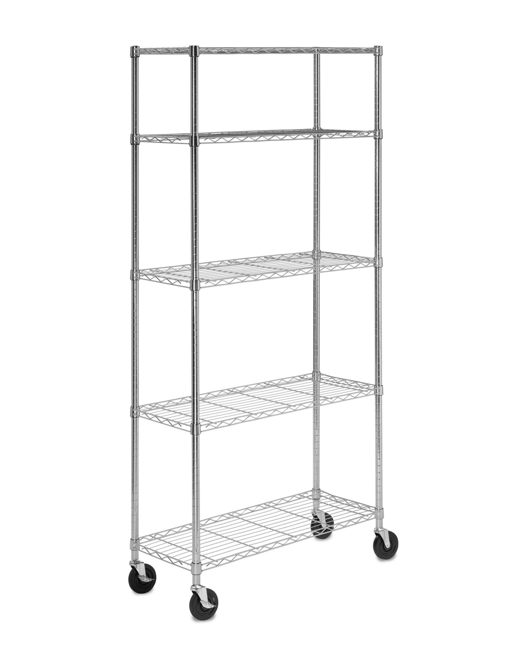 Honey-Can-Do International Chrome Storage Shelves Storage & Organization