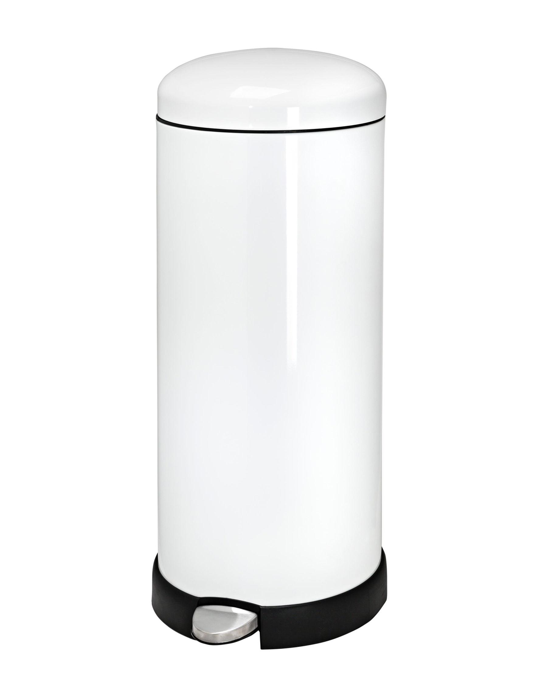 Honey-Can-Do International White Wastebaskets Storage & Organization