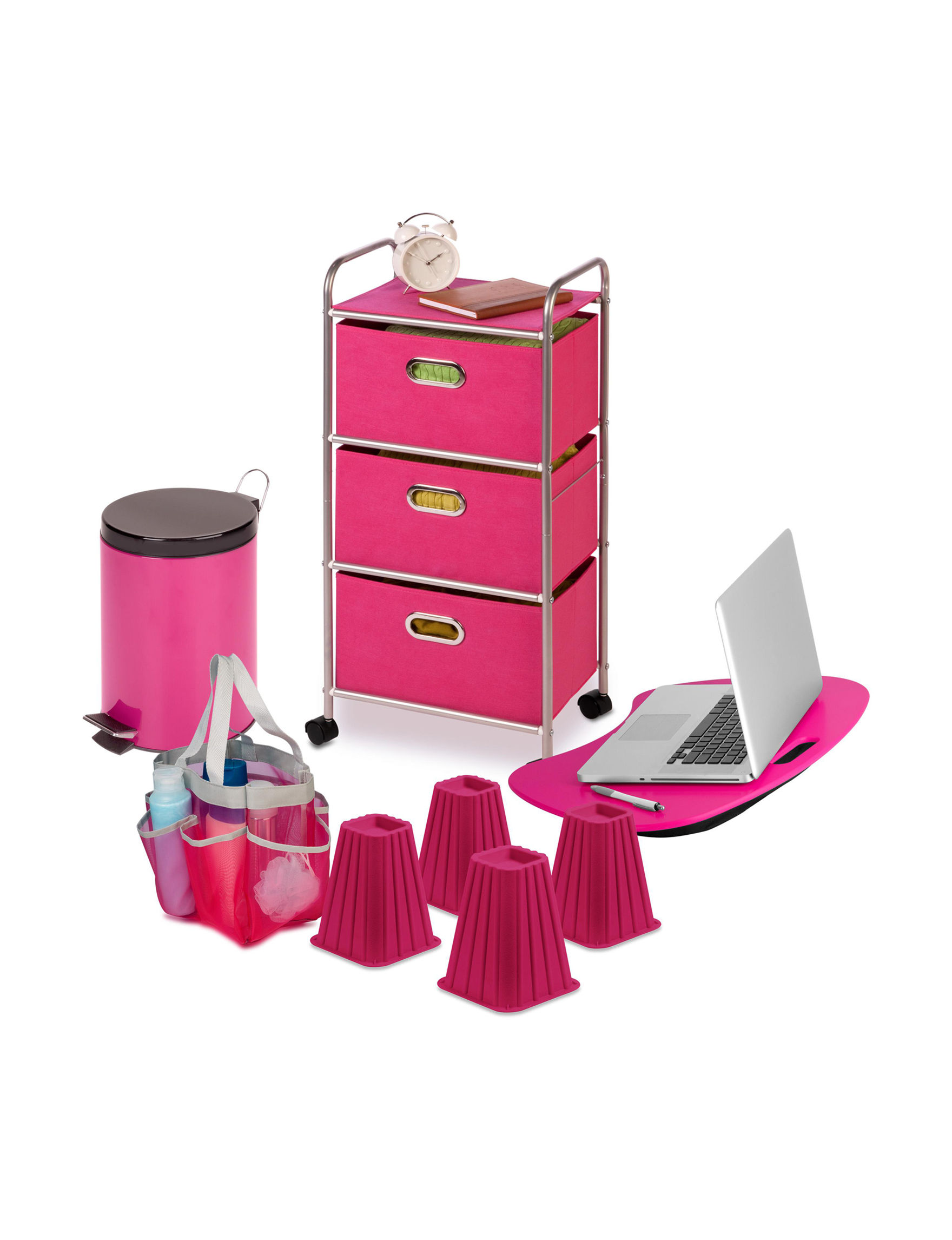 Honey-Can-Do International Pink Carts & Drawers Storage & Organization