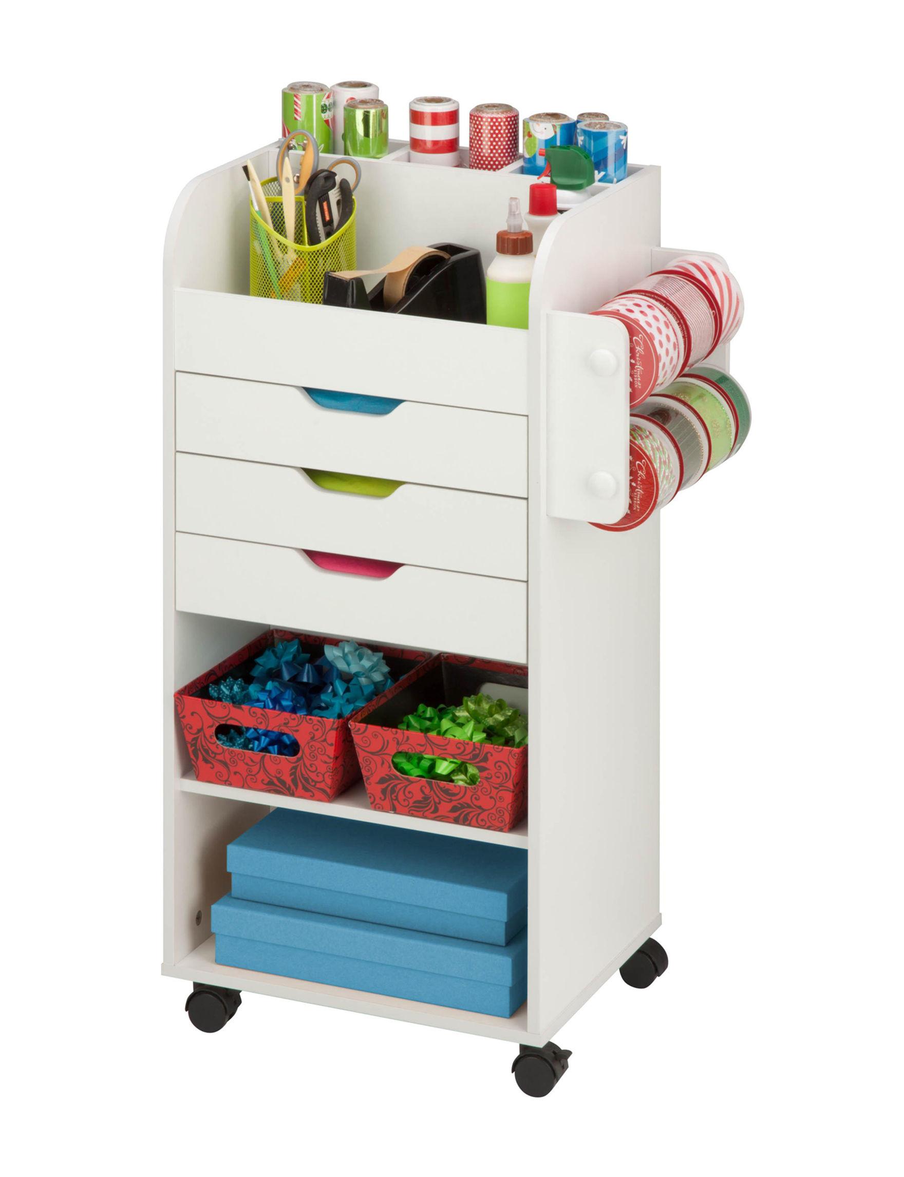 Honey-Can-Do International White Carts & Drawers Storage & Organization