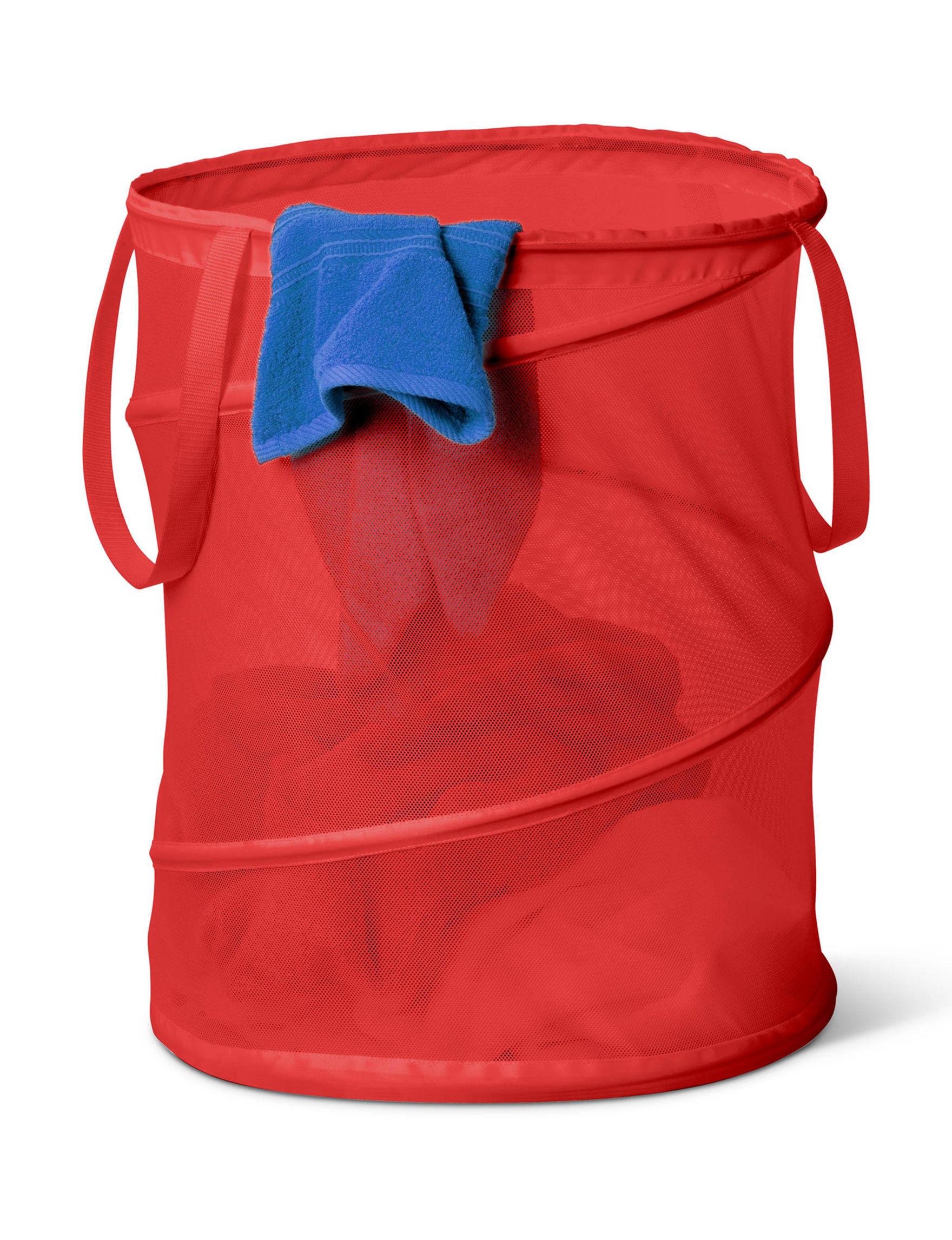 Honey-Can-Do International Red Laundry Hampers Storage & Organization