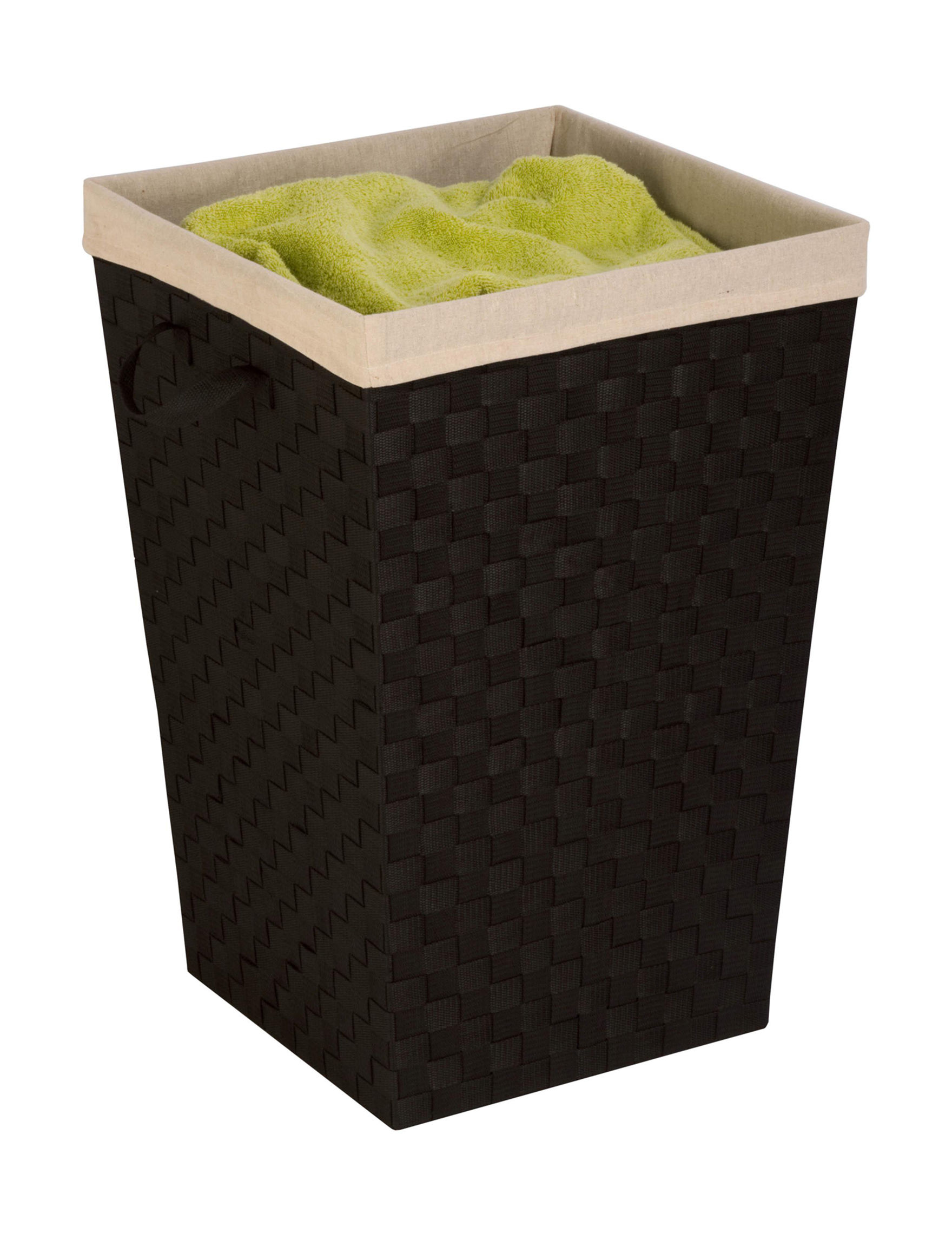 Honey-Can-Do International Black Laundry Hampers Storage & Organization