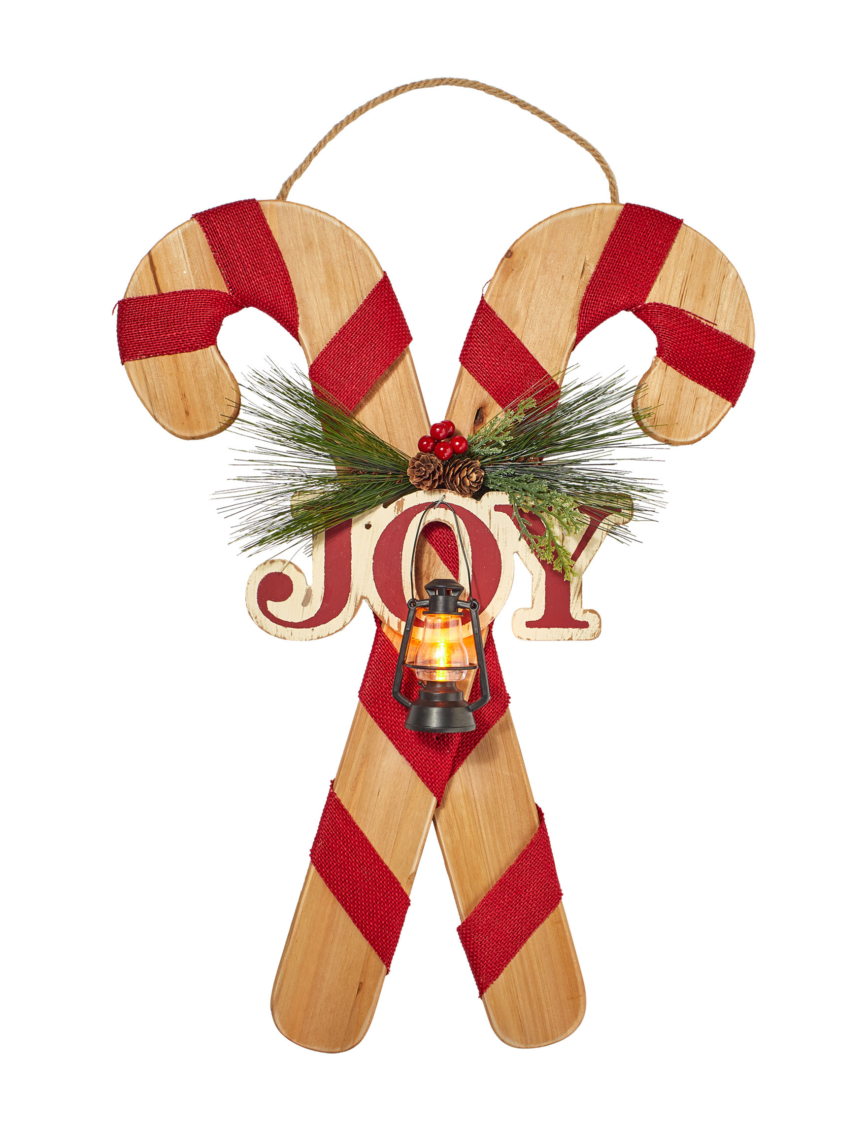 Jingle Bell Lane Red Multi Holiday Decor Wall Decor