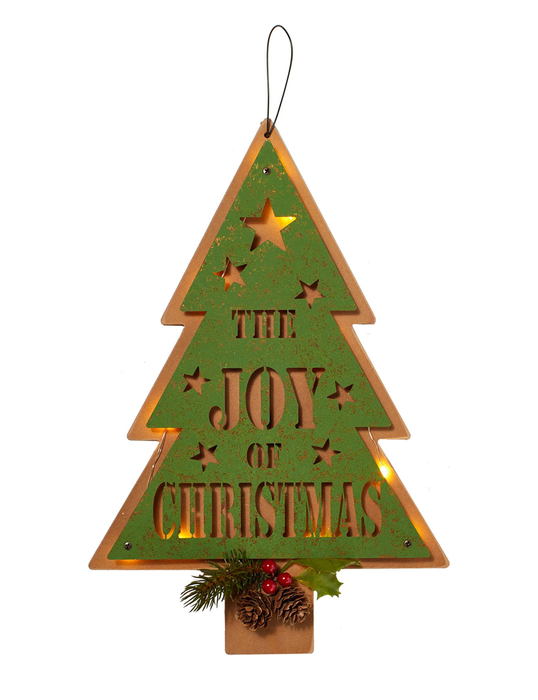 Jingle Bell Lane Green Holiday Decor Wall Decor