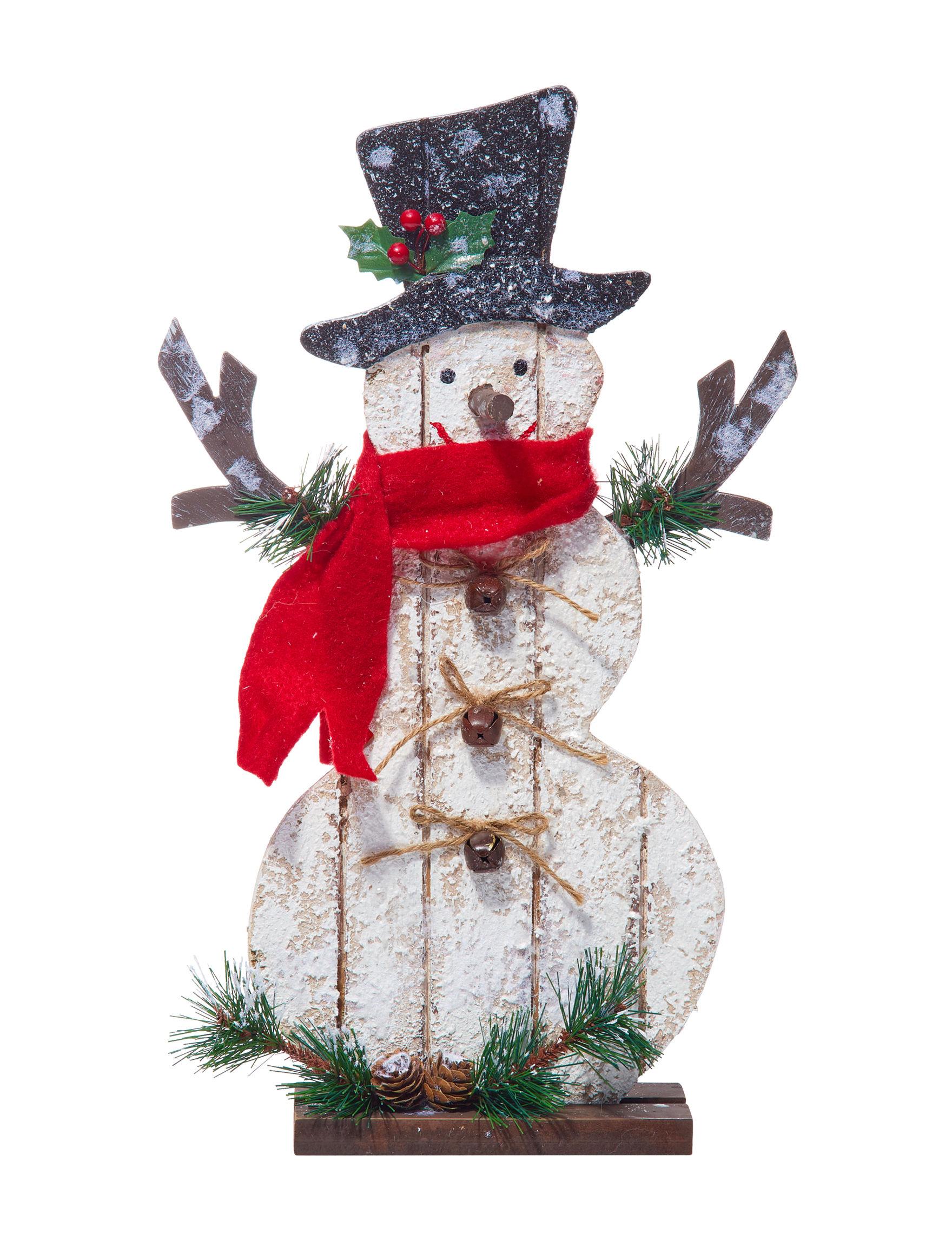 Jingle Bell Lane White Multi Holiday Decor
