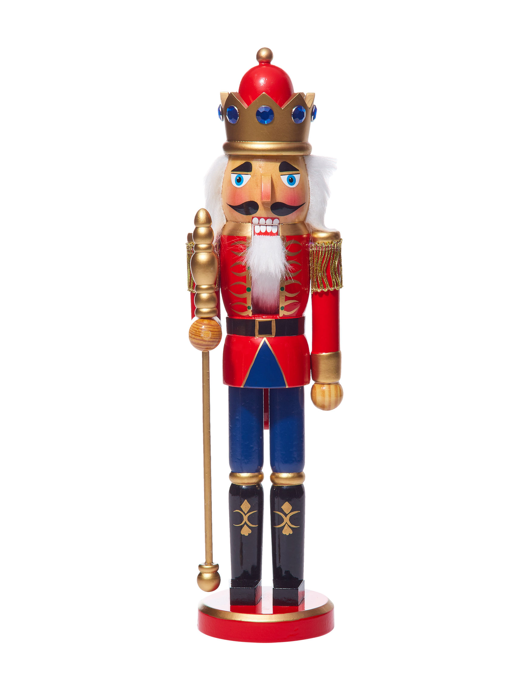 Jingle Bell Lane Red Multi Nutcrackers Holiday Decor