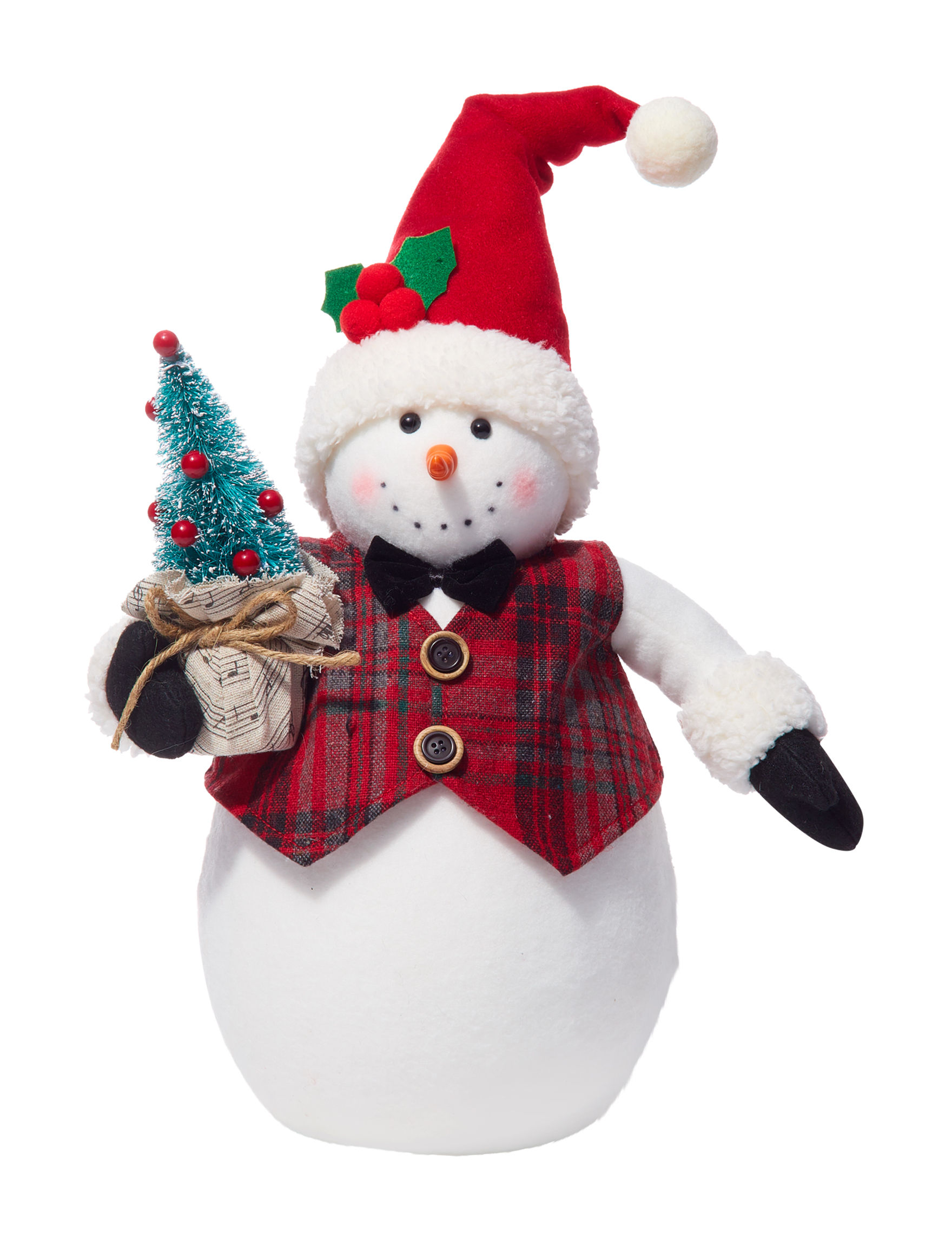 Jingle Bell Lane White / Red Decorative Objects Holiday Decor