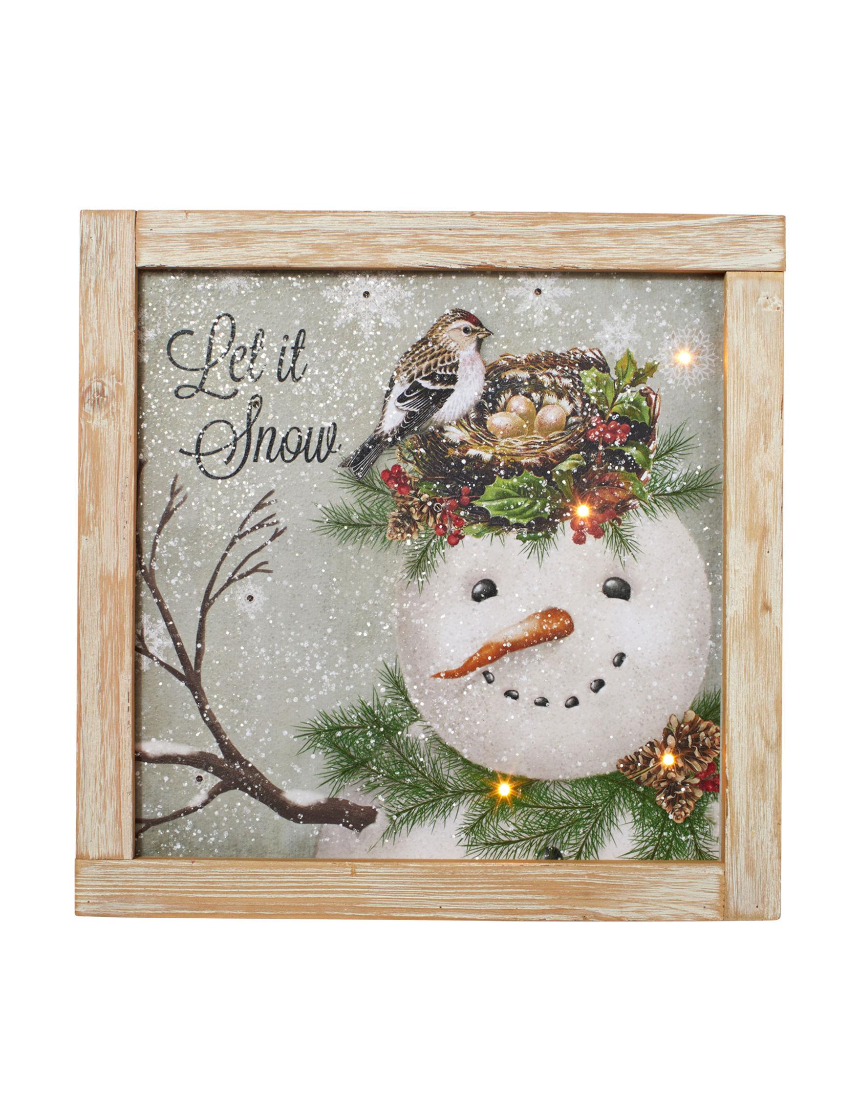 Jingle Bell Lane Green Multi Decorative Objects Holiday Decor
