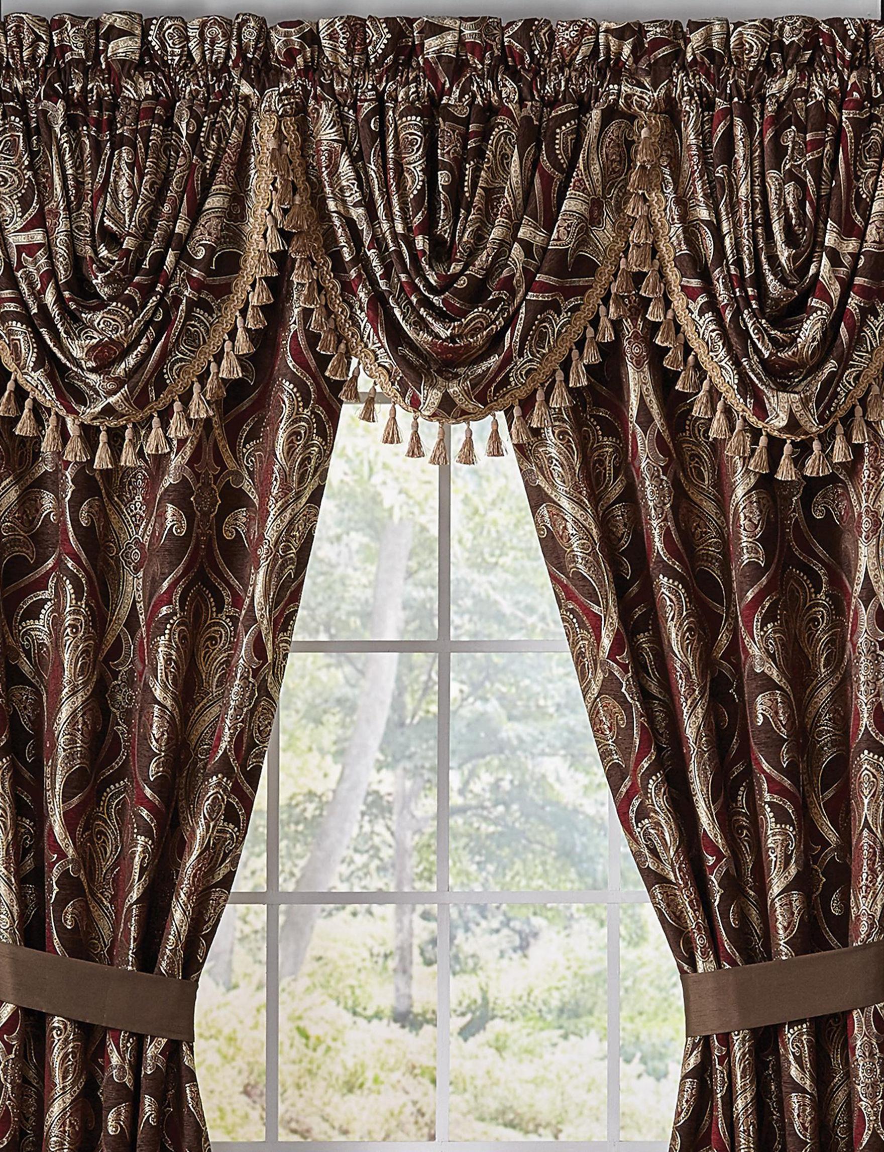 Croscill Red Curtains & Drapes Valances Window Treatments