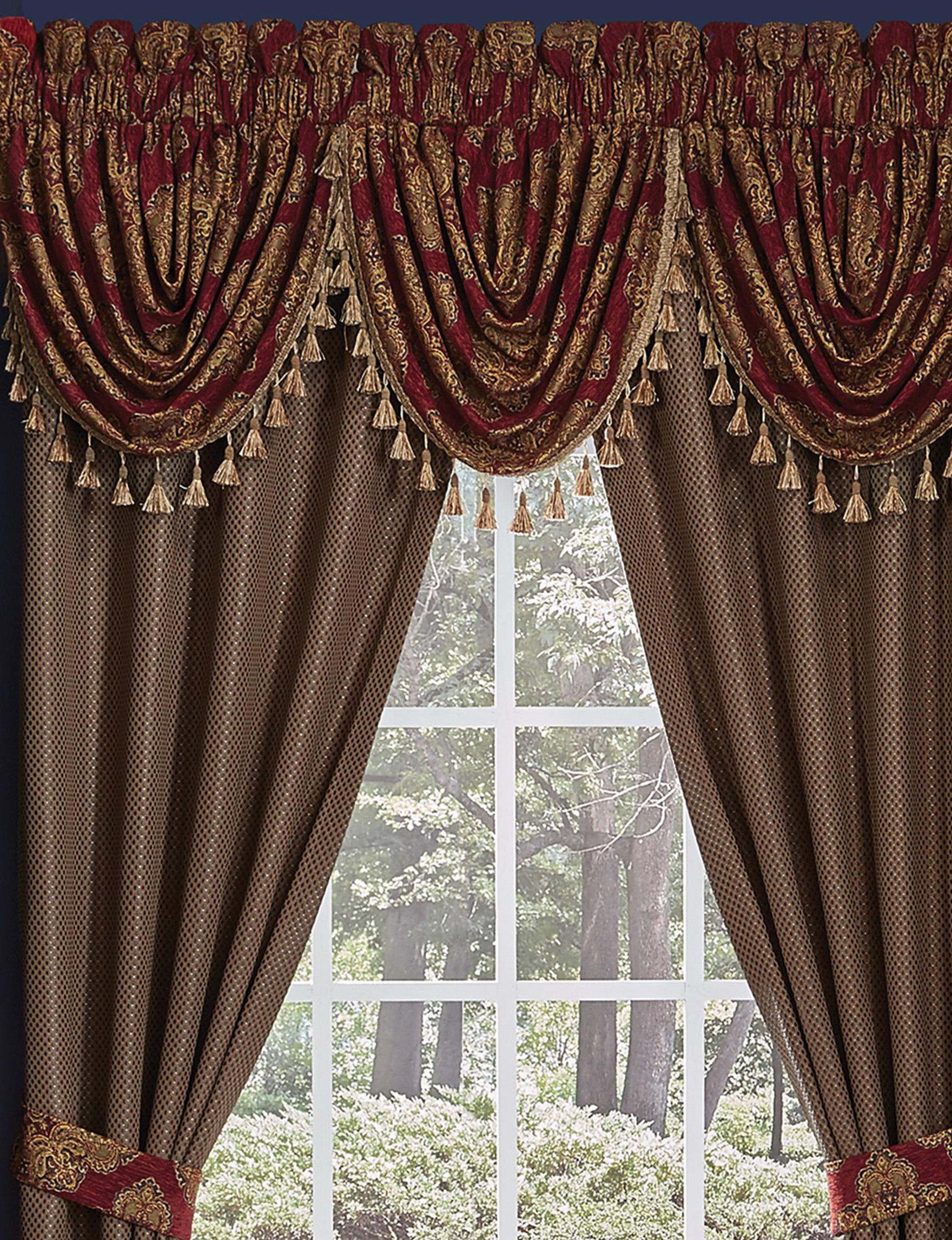 Croscill Red Curtains & Drapes Valances Window Treatments