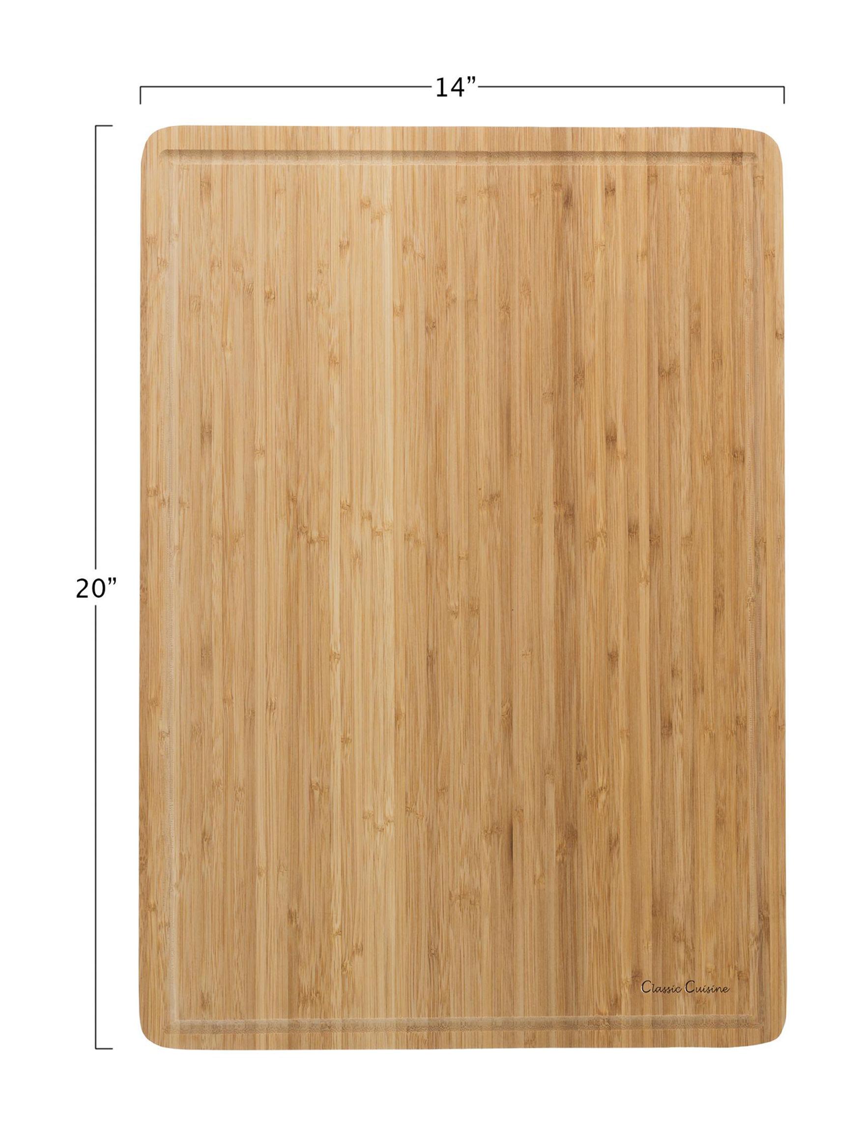 Classic Cuisine Bamboo Cutting Boards Prep & Tools