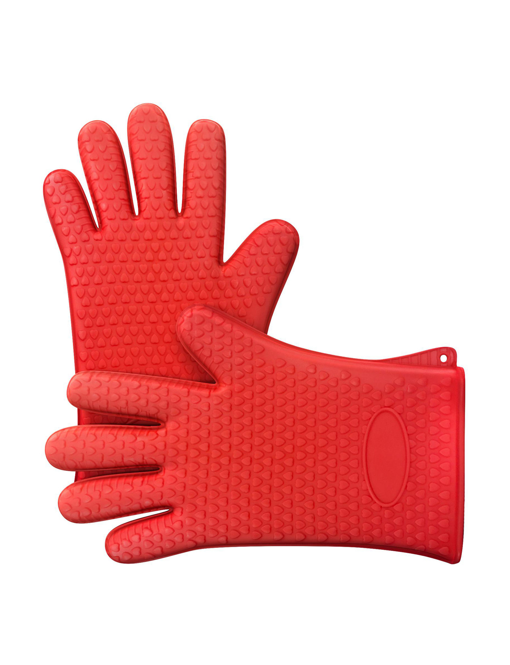 Chef Buddy Red Oven Mitts & Pot Holders Prep & Tools