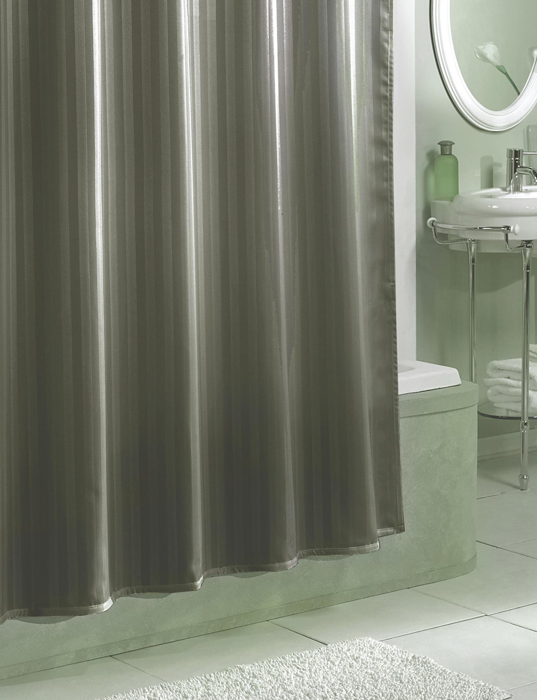 Excell Grey Shower Curtains & Hooks