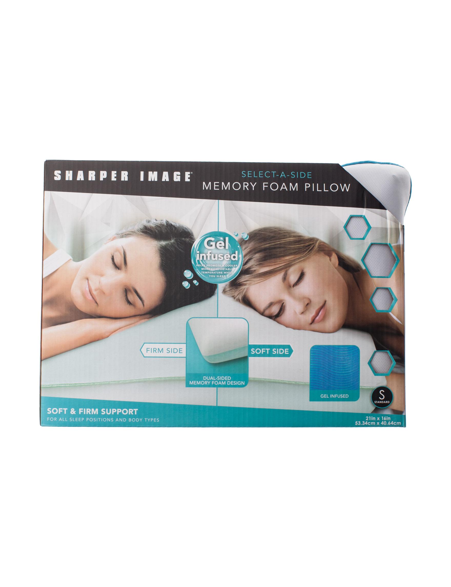 Sharper Image White Bed Pillows