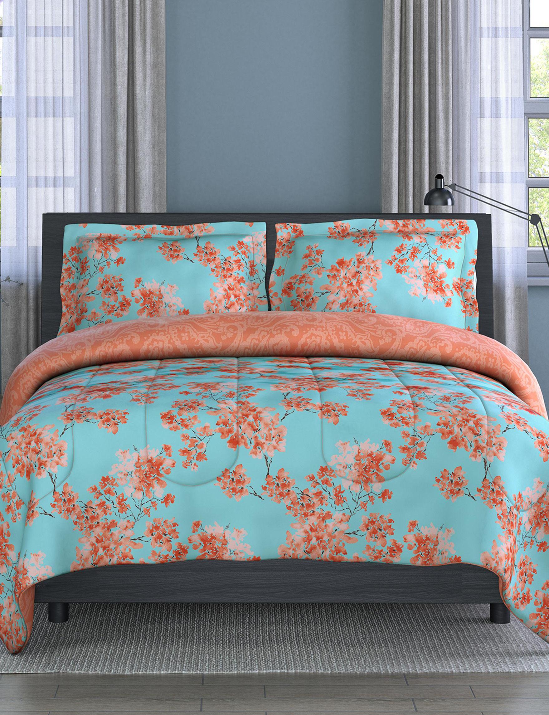 Inspired Surroundings Teal Comforters & Comforter Sets