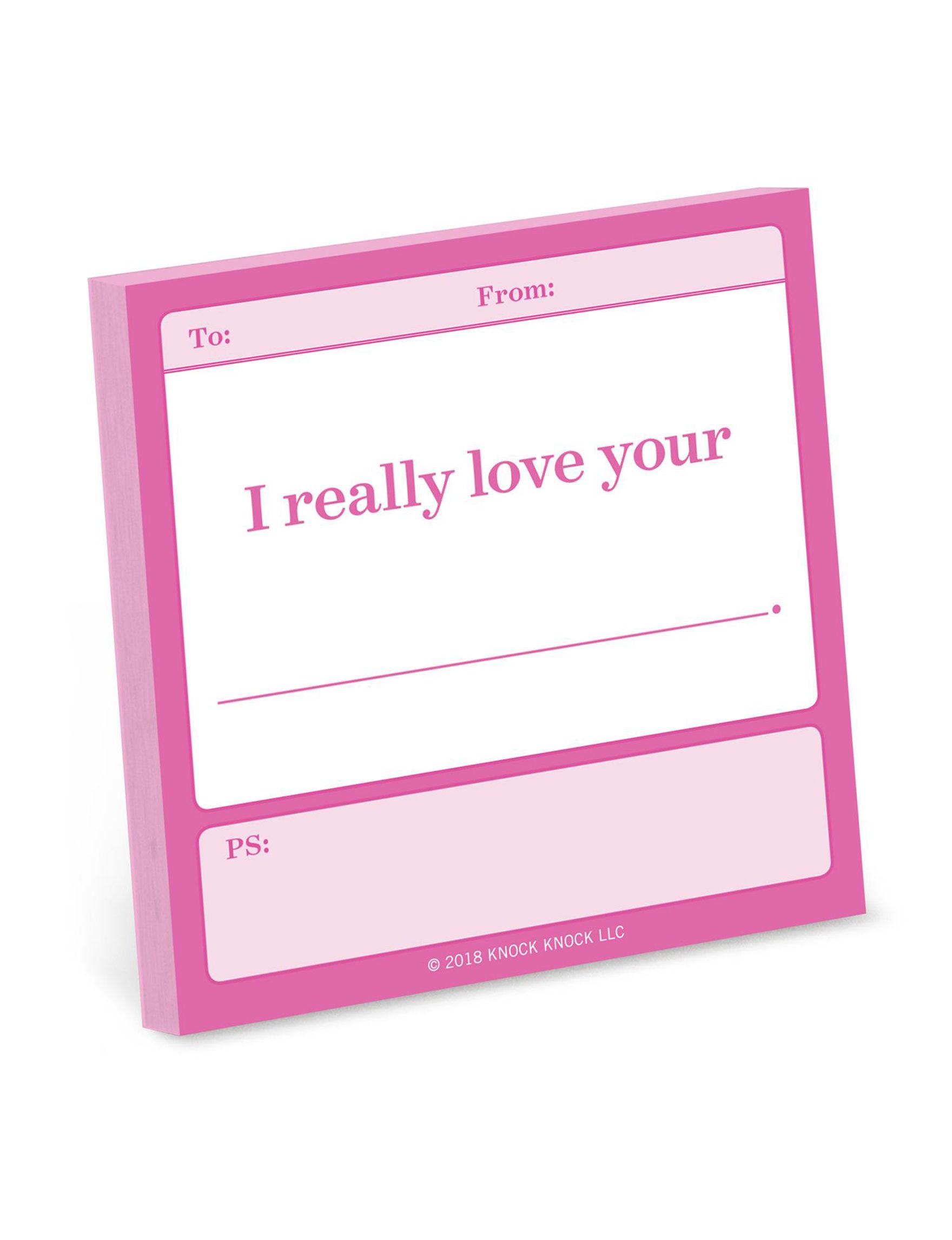 Knock Knock Pink Journals & Notepads