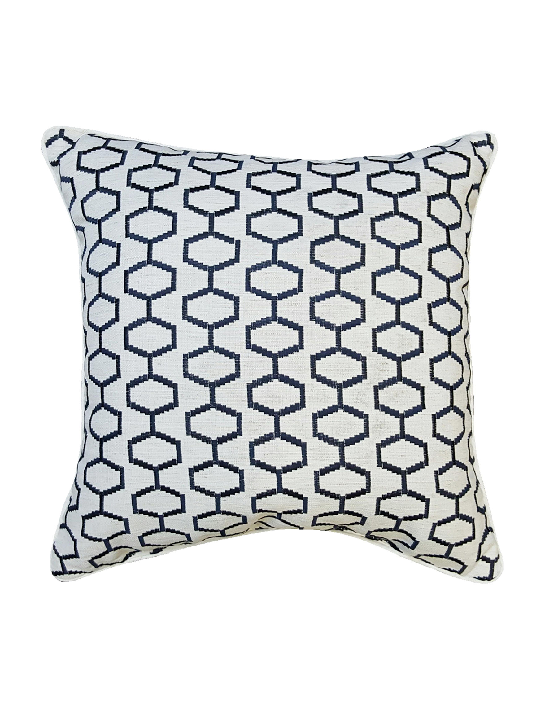 Home Fashions International Navy Decorative Pillows