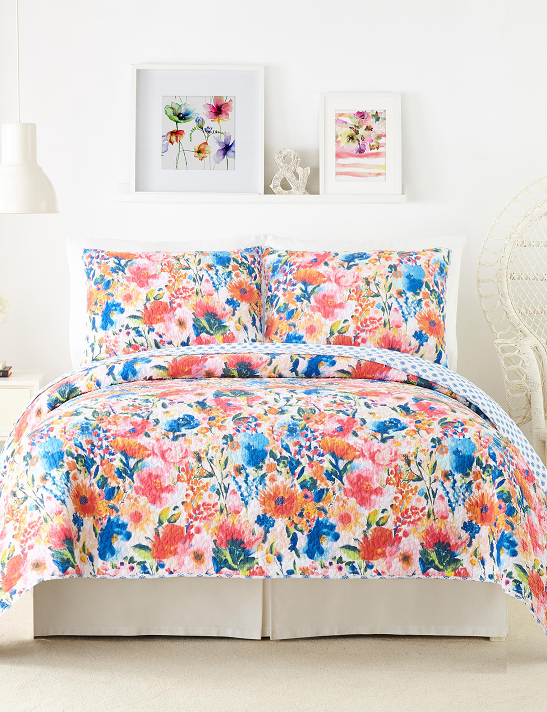 Modern Heirloom Orange Multi Quilts & Quilt Sets