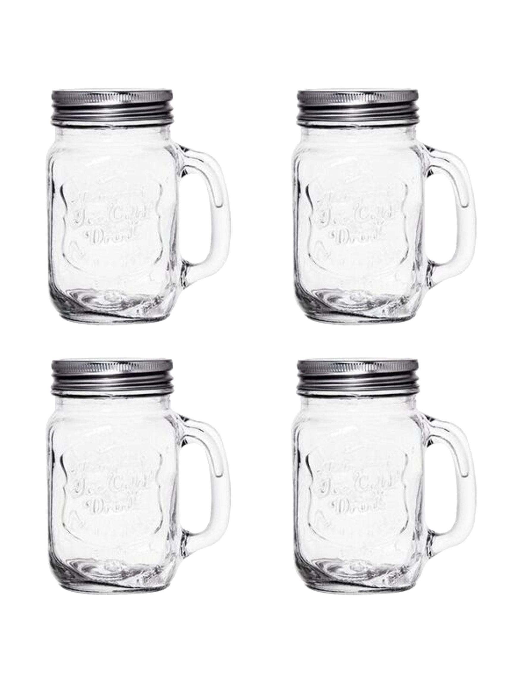 Home Essentials 4-pc. Ice Cold Mason Glasses Set | Stage Stores