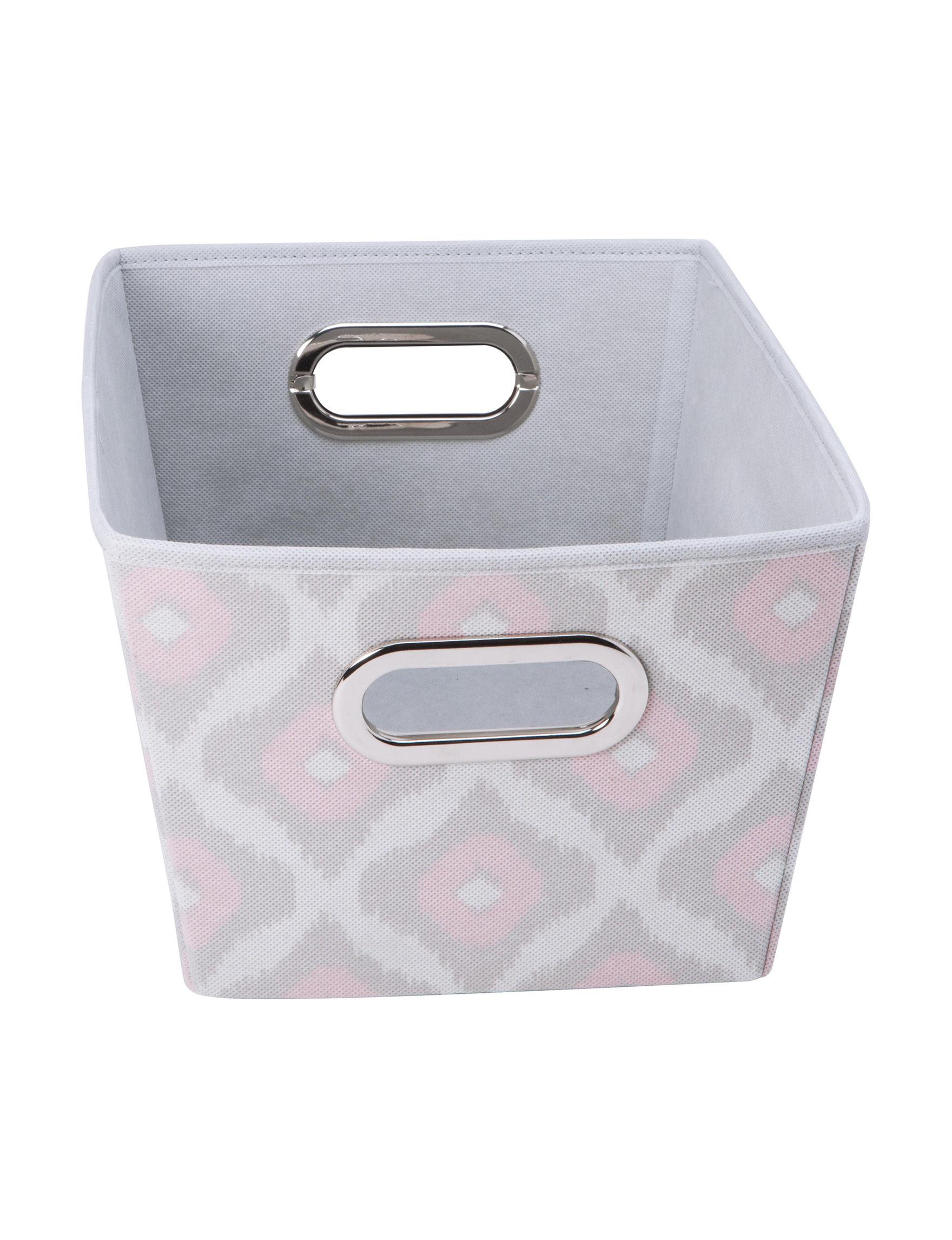 Laura Ashley Grey / Pink Storage & Organization