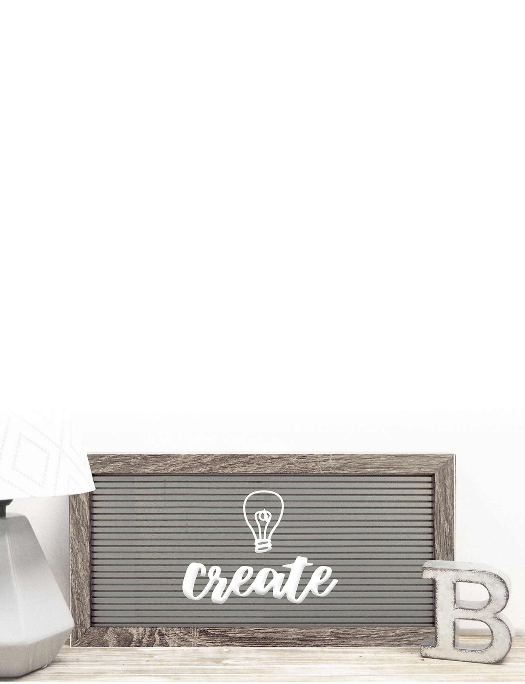 New View White Message Boards Home Accents