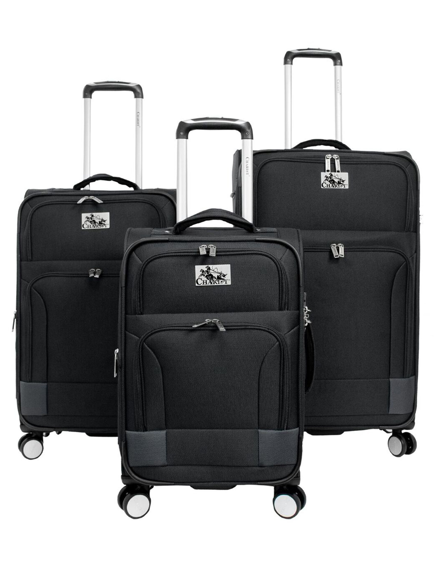 Chariot Travelware Black Hardside Upright Spinners