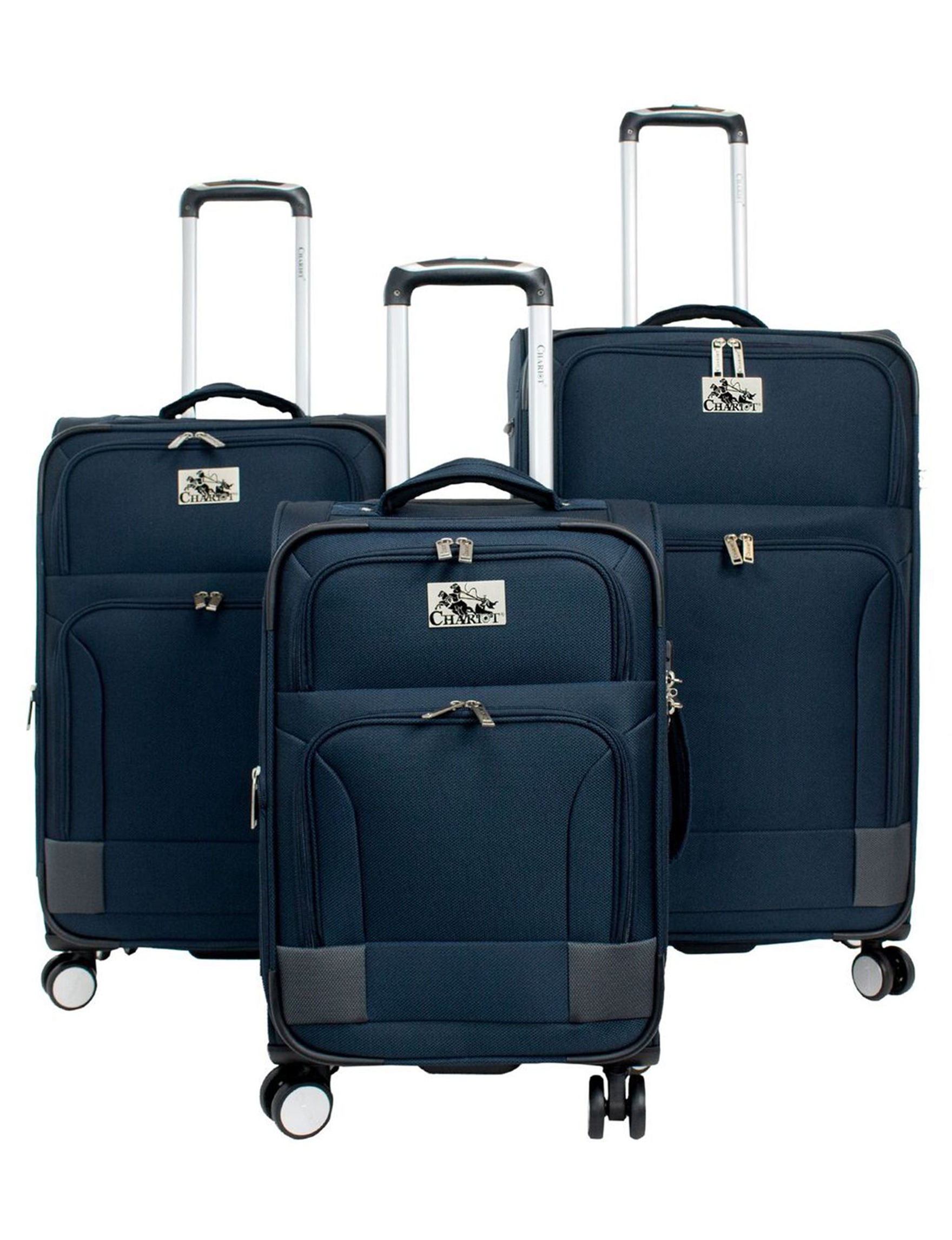 Chariot Travelware Blue Upright Spinners