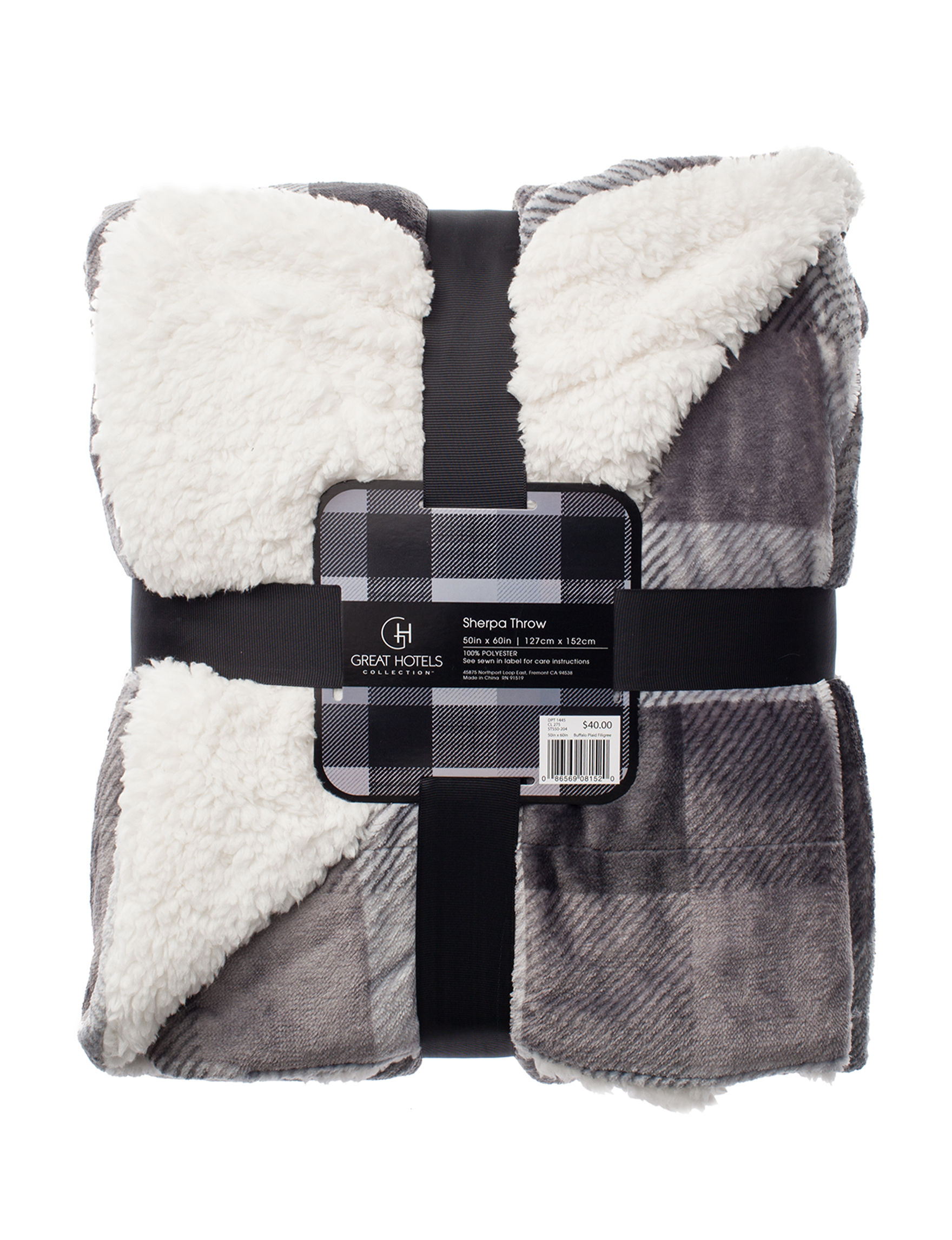 Great Hotels Collection Grey Blankets & Throws