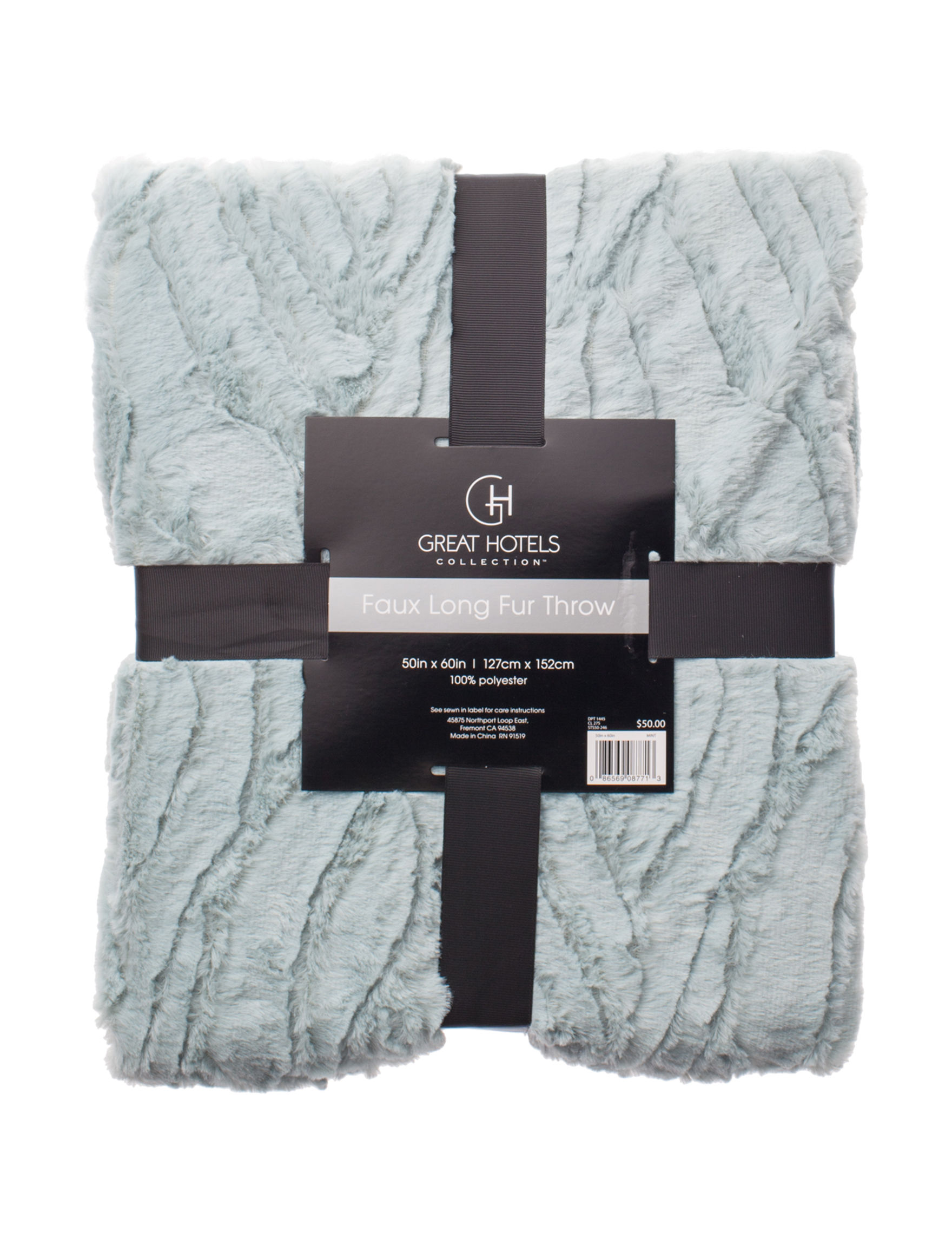 Great Hotels Collection Mint Blankets & Throws