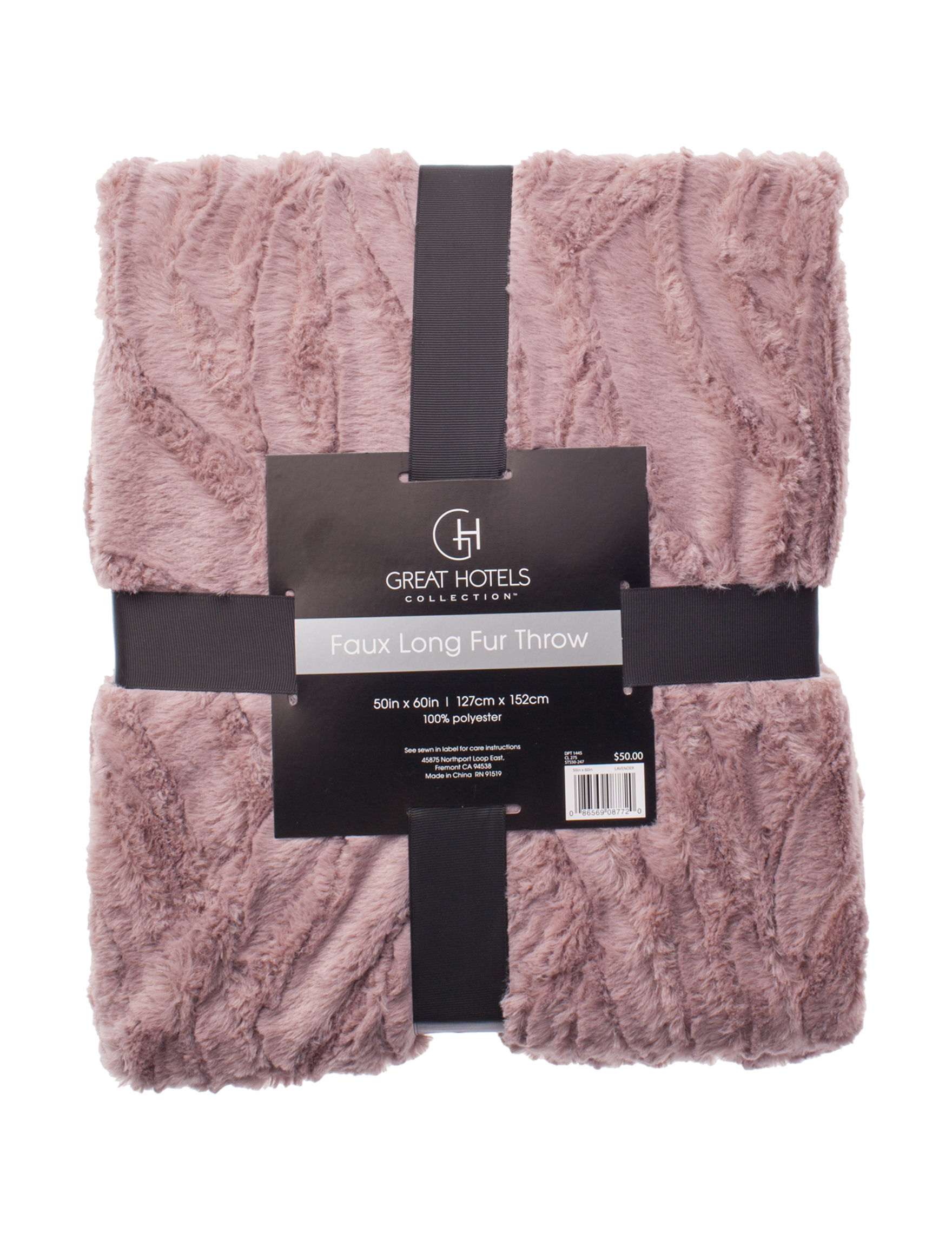 Great Hotels Collection Lavender Blankets & Throws