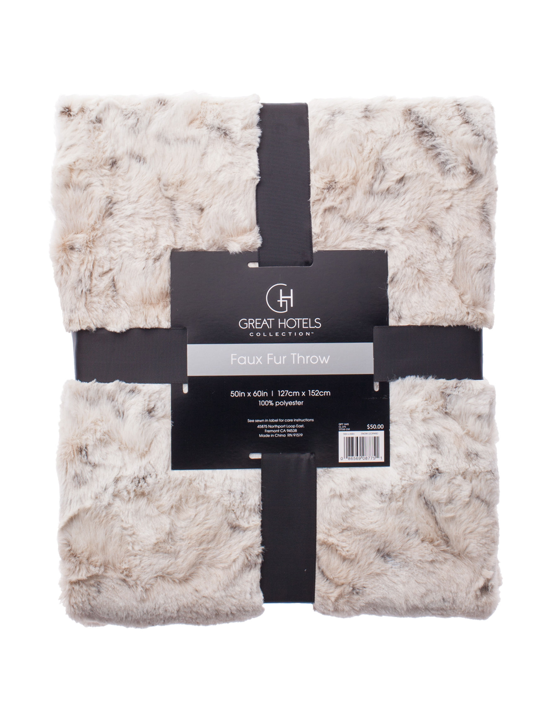 Great Hotels Collection Ivory Blankets & Throws