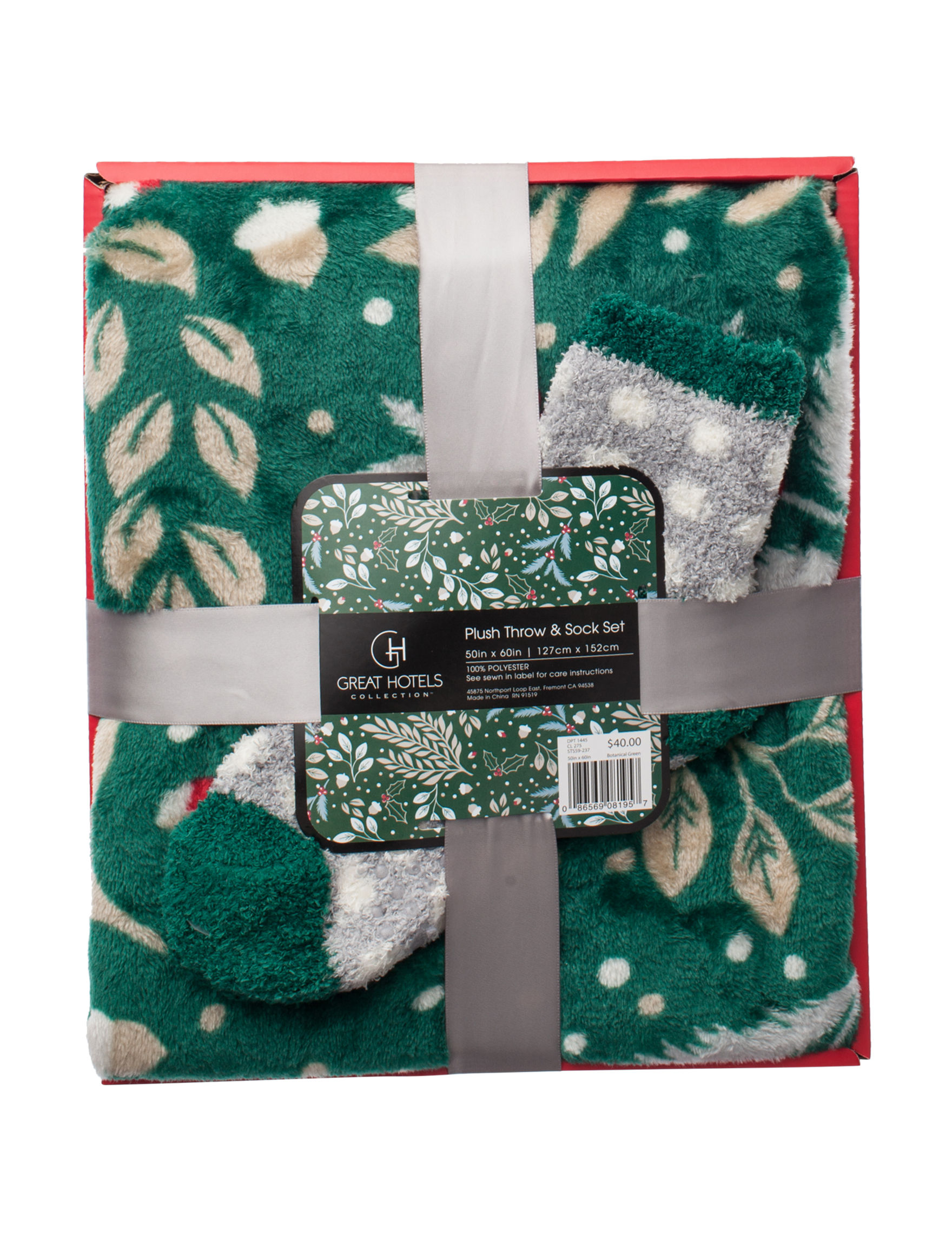 Great Hotels Collection Green Blankets & Throws