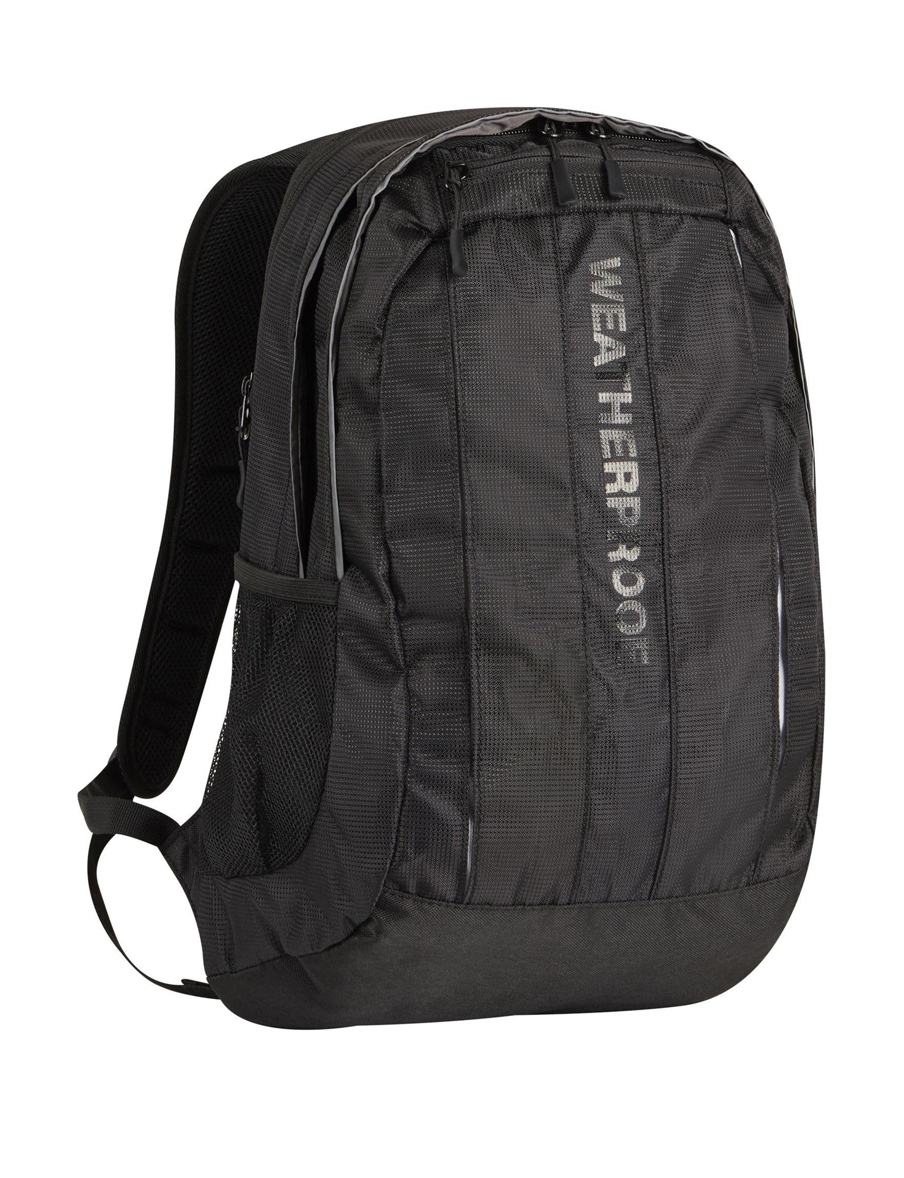 Weatherproof Black Bookbags & Backpacks