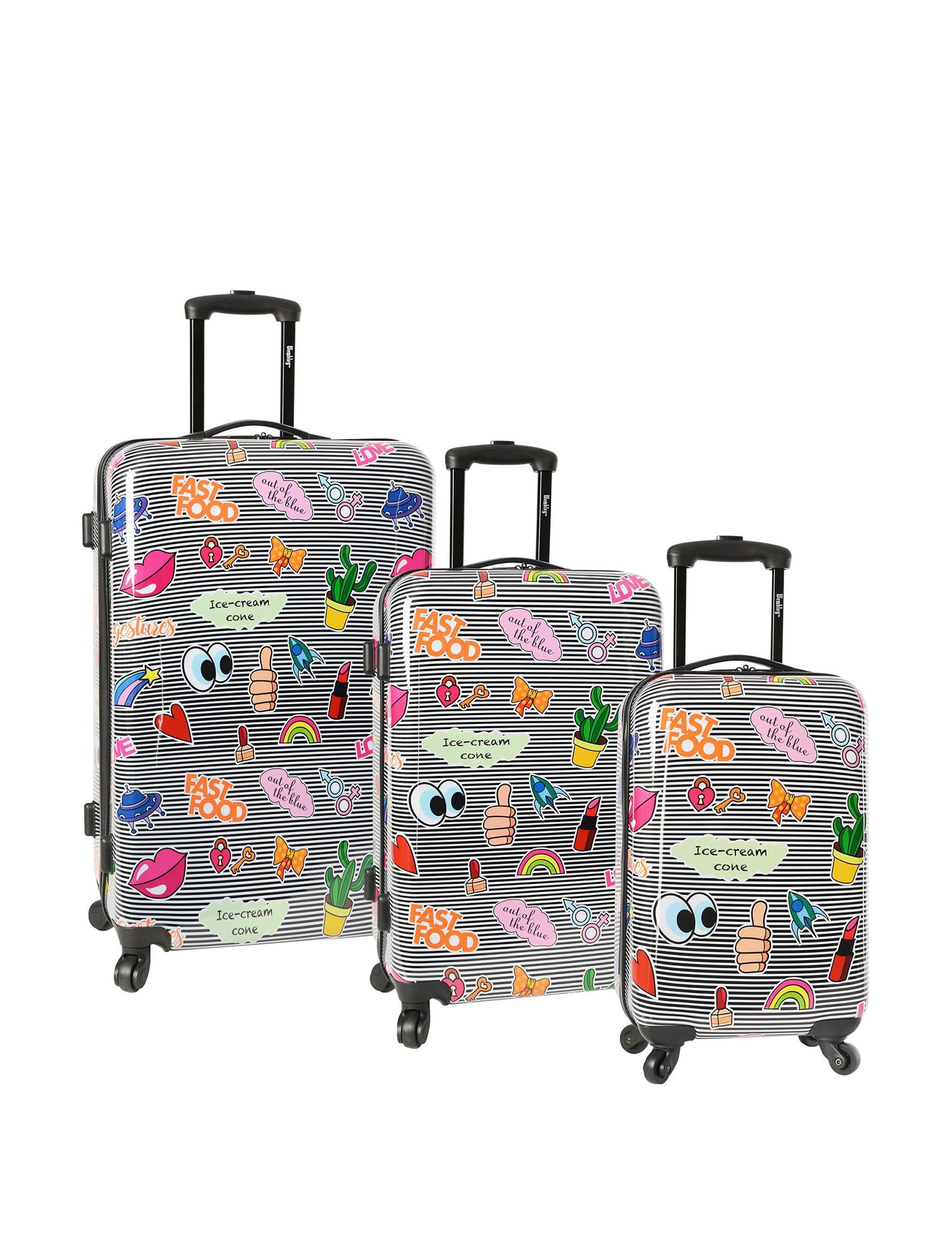Wembley Black Multi Luggage Sets