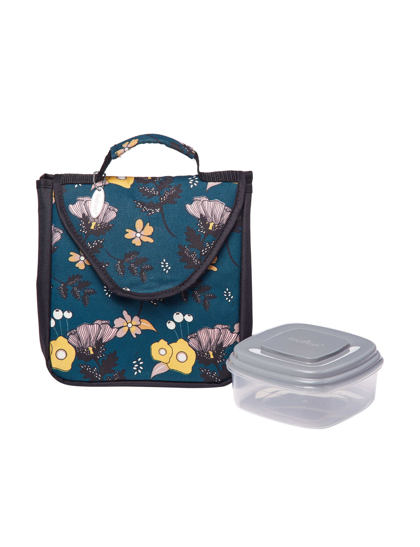 Fit & Fresh Blue Lunch Boxes & Bags Kitchen Storage & Organization