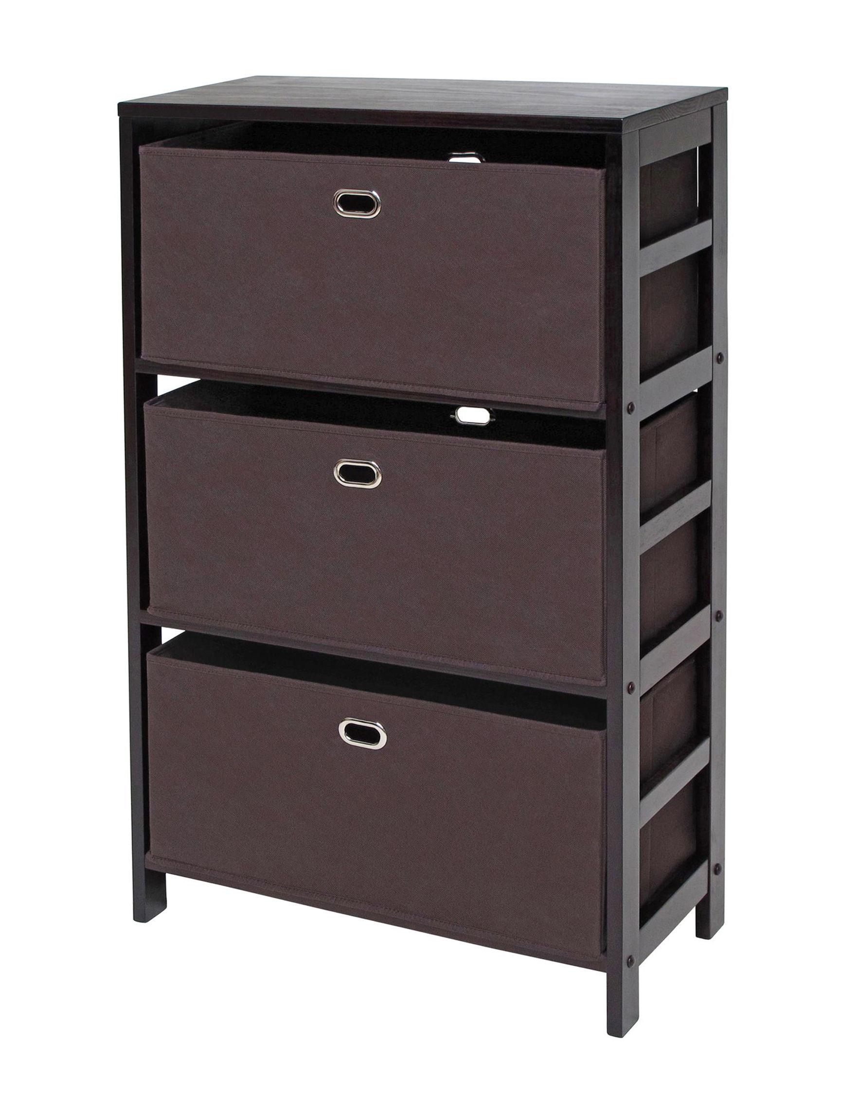 Winsome Chocolate Storage Shelves Living Room Furniture Storage & Organization