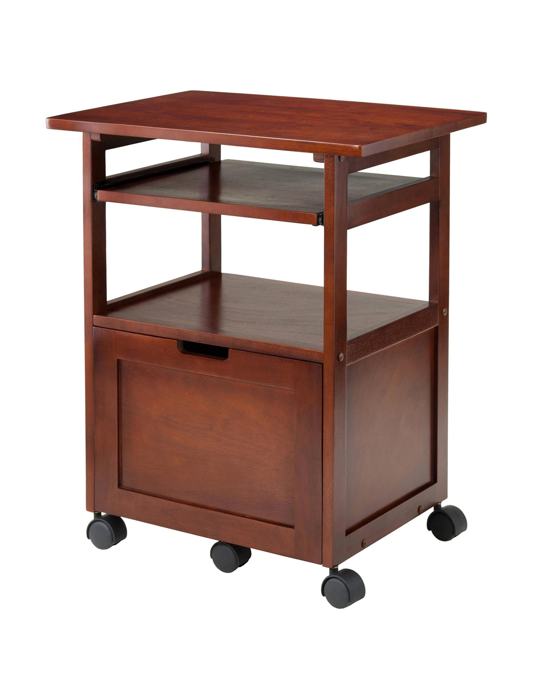 Winsome Walnut Accent & End Tables Home Office Furniture