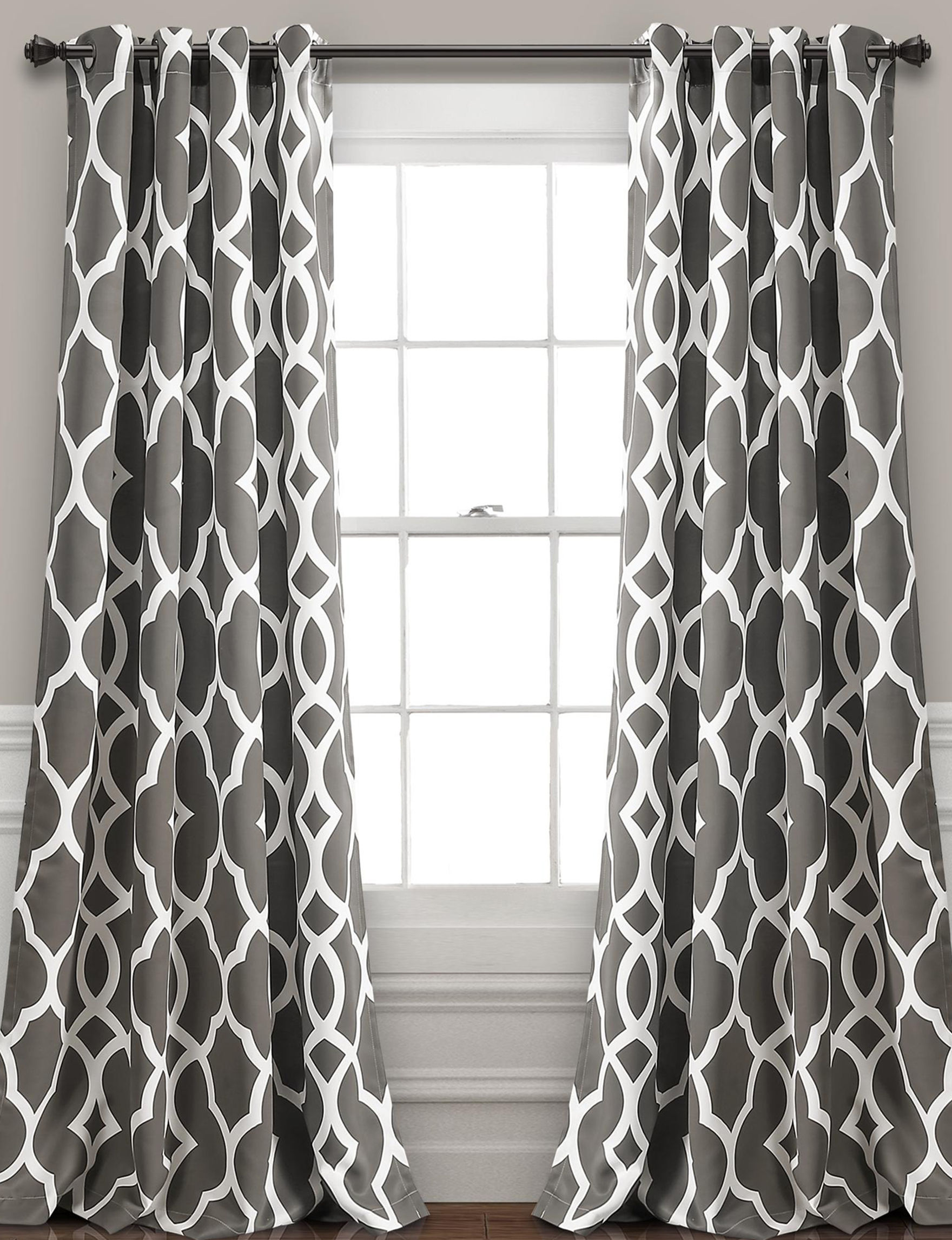 Lush Decor Grey / White Curtains & Drapes Window Treatments