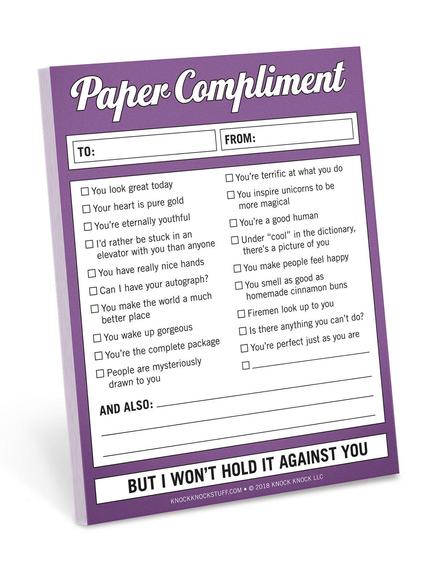 Knock Knock Purple Journals & Notepads School & Office Supplies
