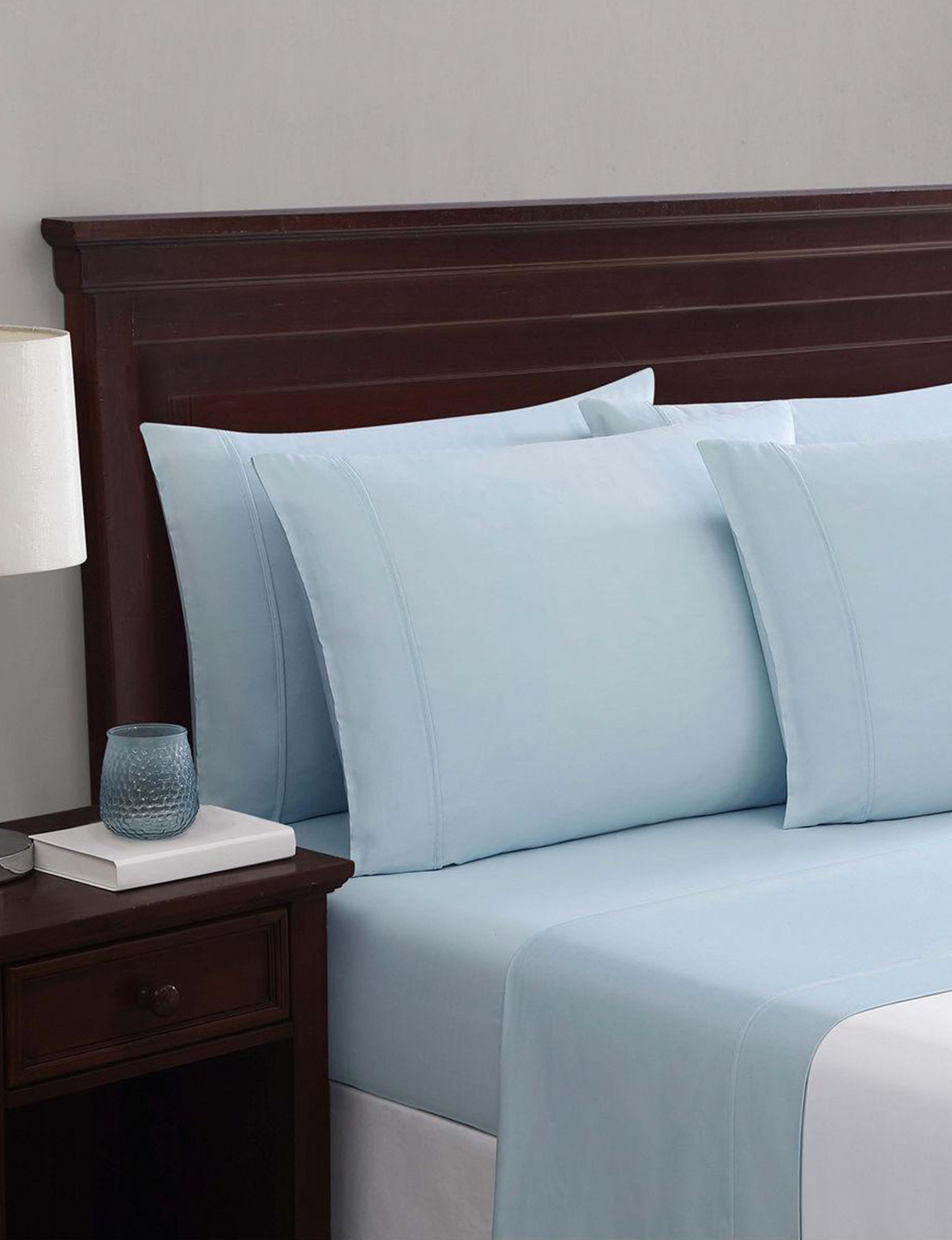Truly Soft Light Blue Sheets & Pillowcases