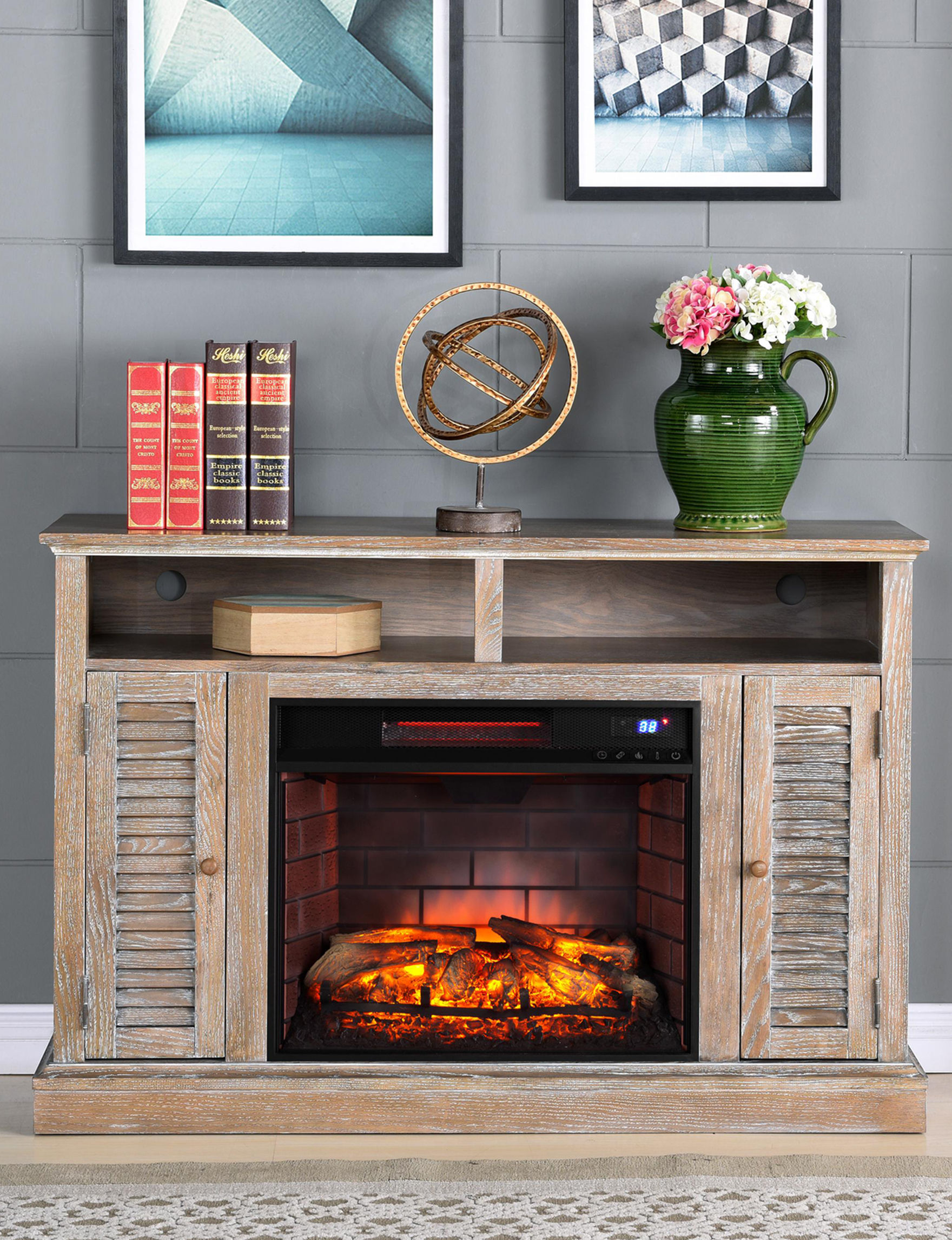 Southern Enterprises Natural TV Stands & Entertainment Centers Game Room Living Room Furniture