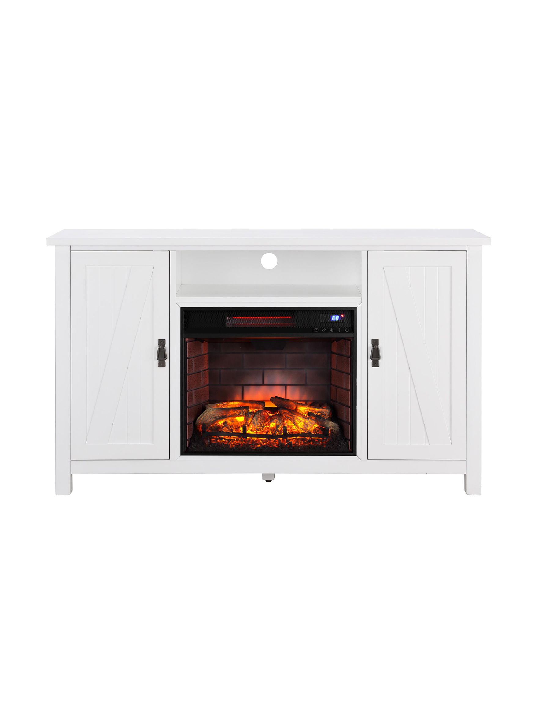 Southern Enterprises White TV Stands & Entertainment Centers Game Room Living Room Furniture