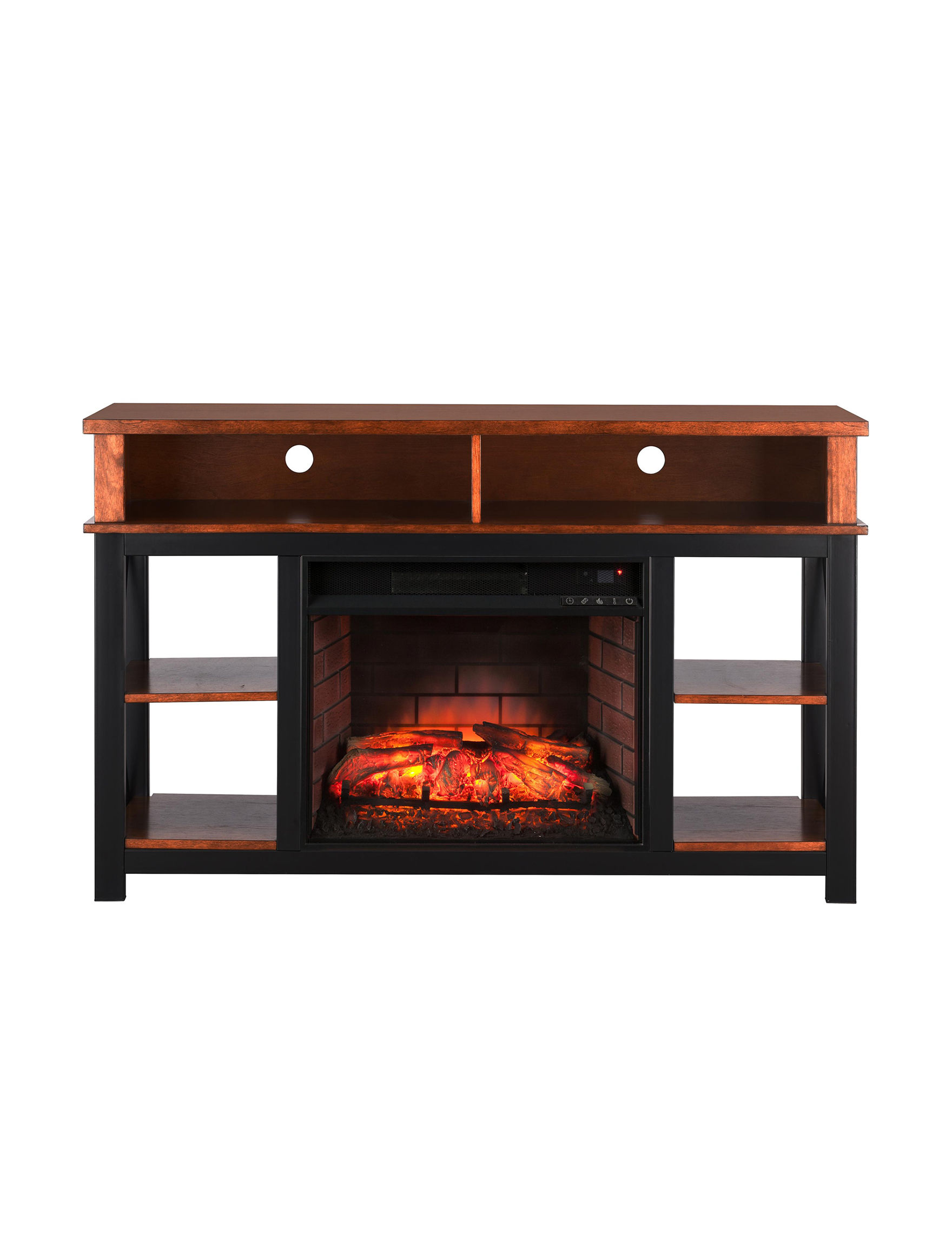 Southern Enterprises Black TV Stands & Entertainment Centers Game Room Living Room Furniture