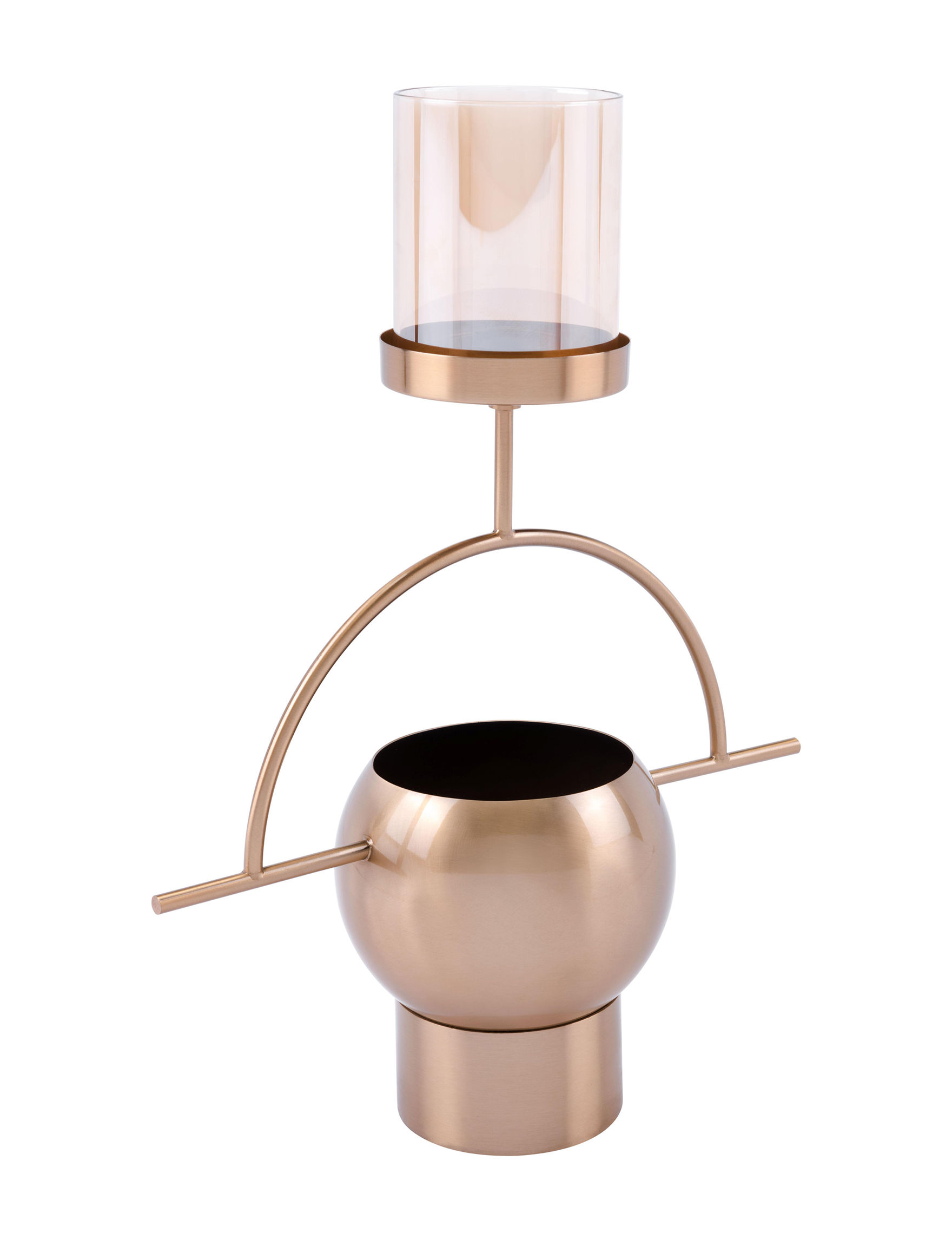 Zuo Modern Gold Candle Holders Decorative Objects Candles & Diffusers Home Accents
