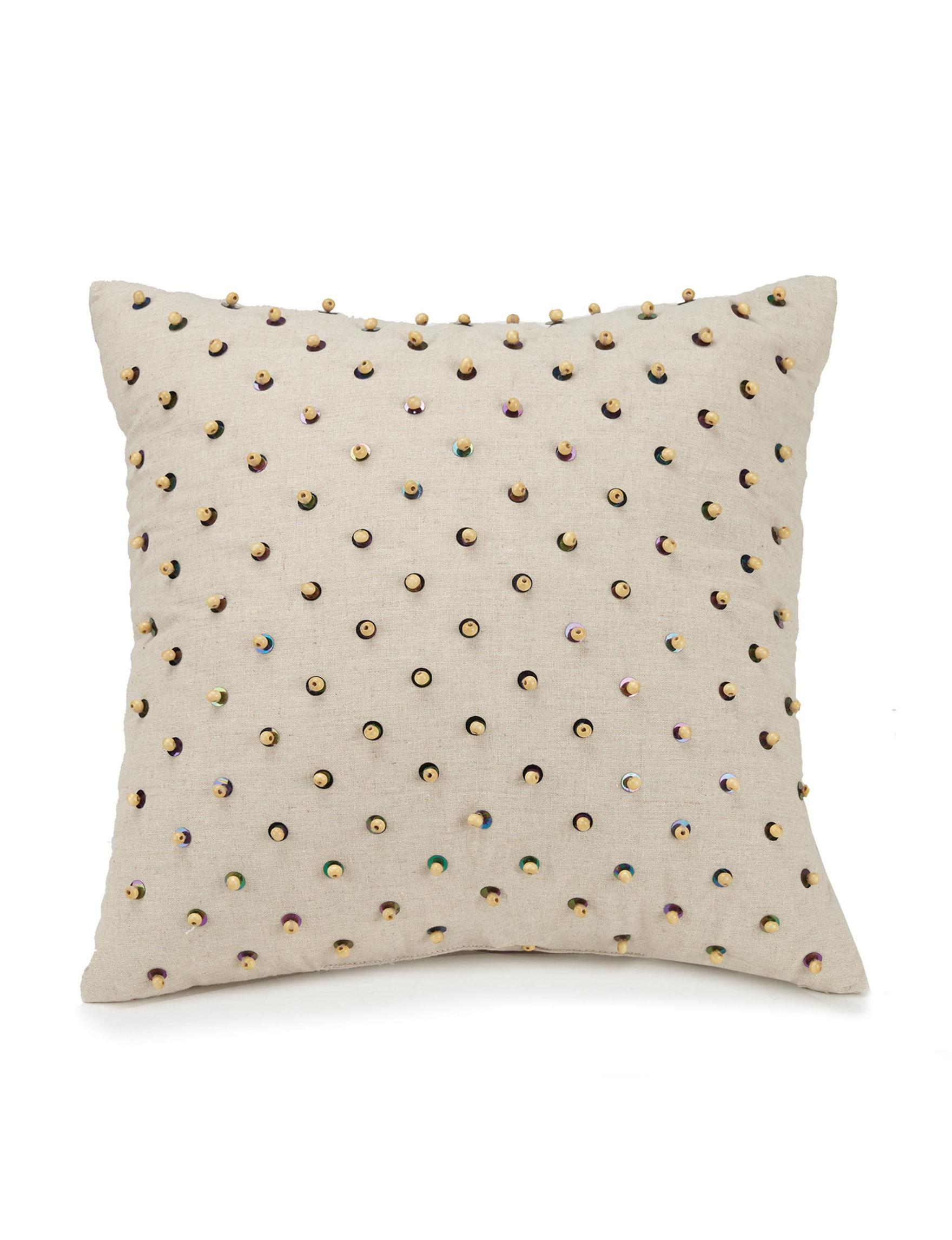 Jessica Simpson Beige Decorative Pillows