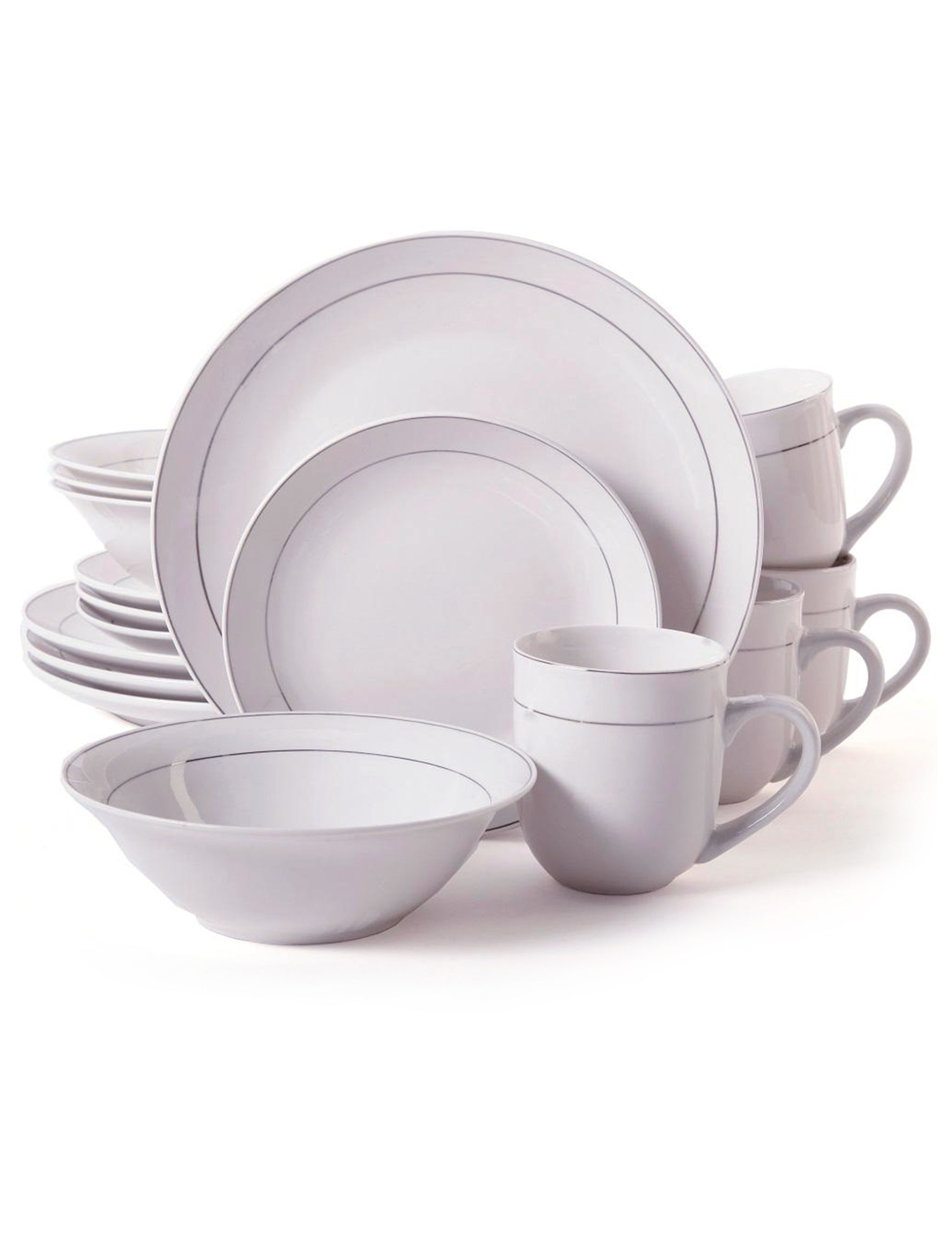 Gibson 16-pc. Platinum Moon Dinnerware Set  sc 1 st  Stage Stores & Gibson 16-pc. Platinum Moon Dinnerware Set | Stage Stores