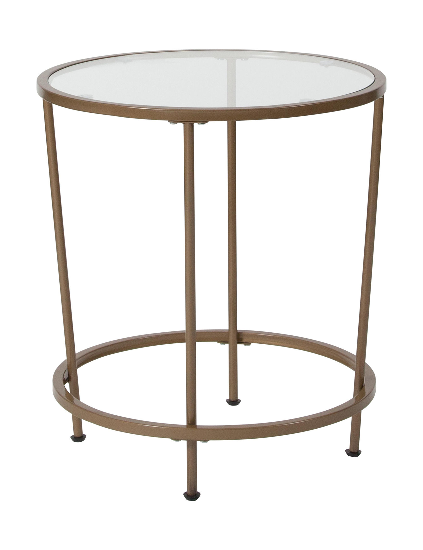 Flash Furniture Gold Accent & End Tables Living Room Furniture