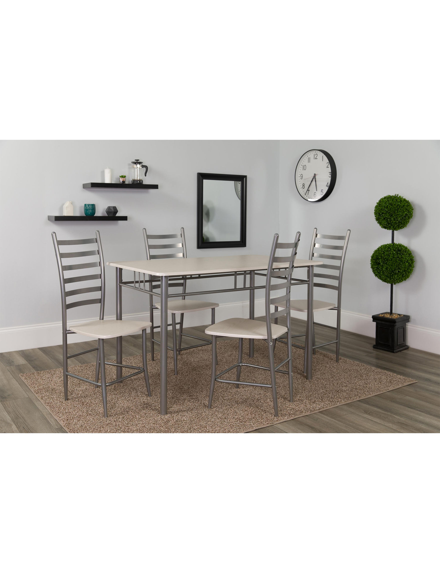 Flash Furniture Grey / White Dining Room Sets Kitchen & Dining Furniture