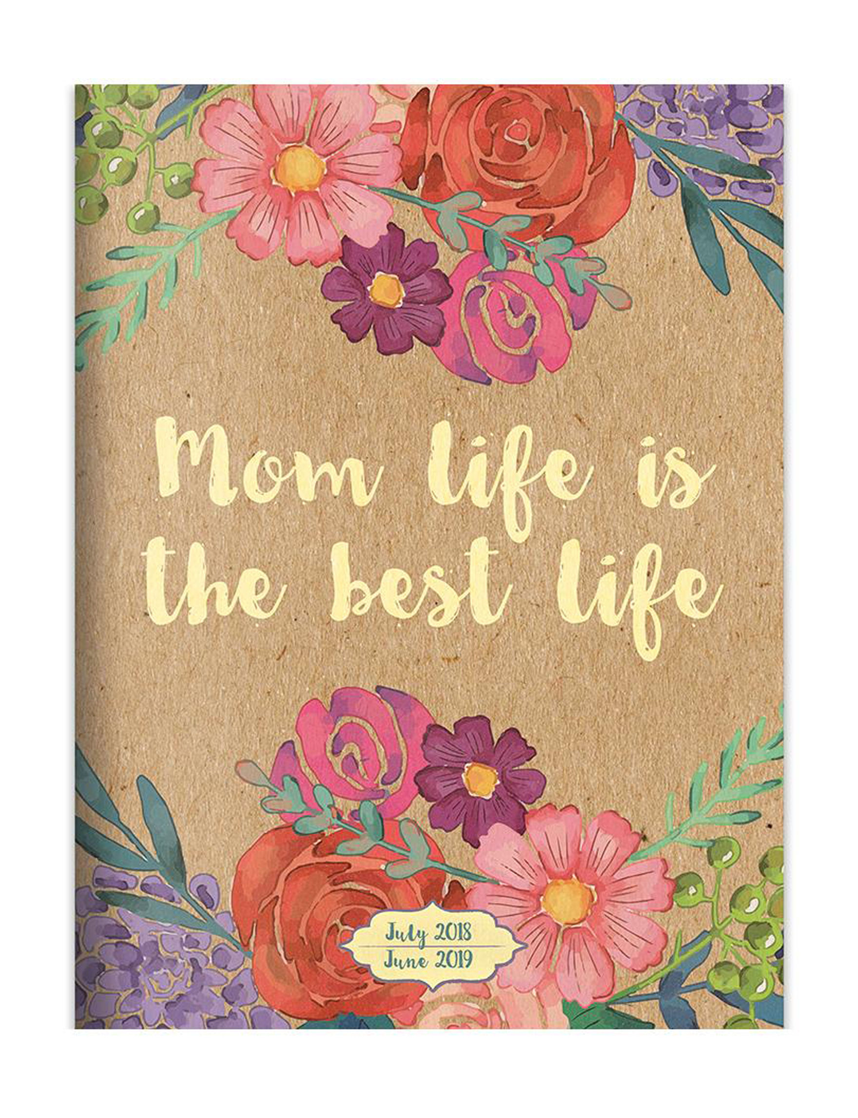 TF Publishing Brown Floral Calendars & Planners School & Office Supplies