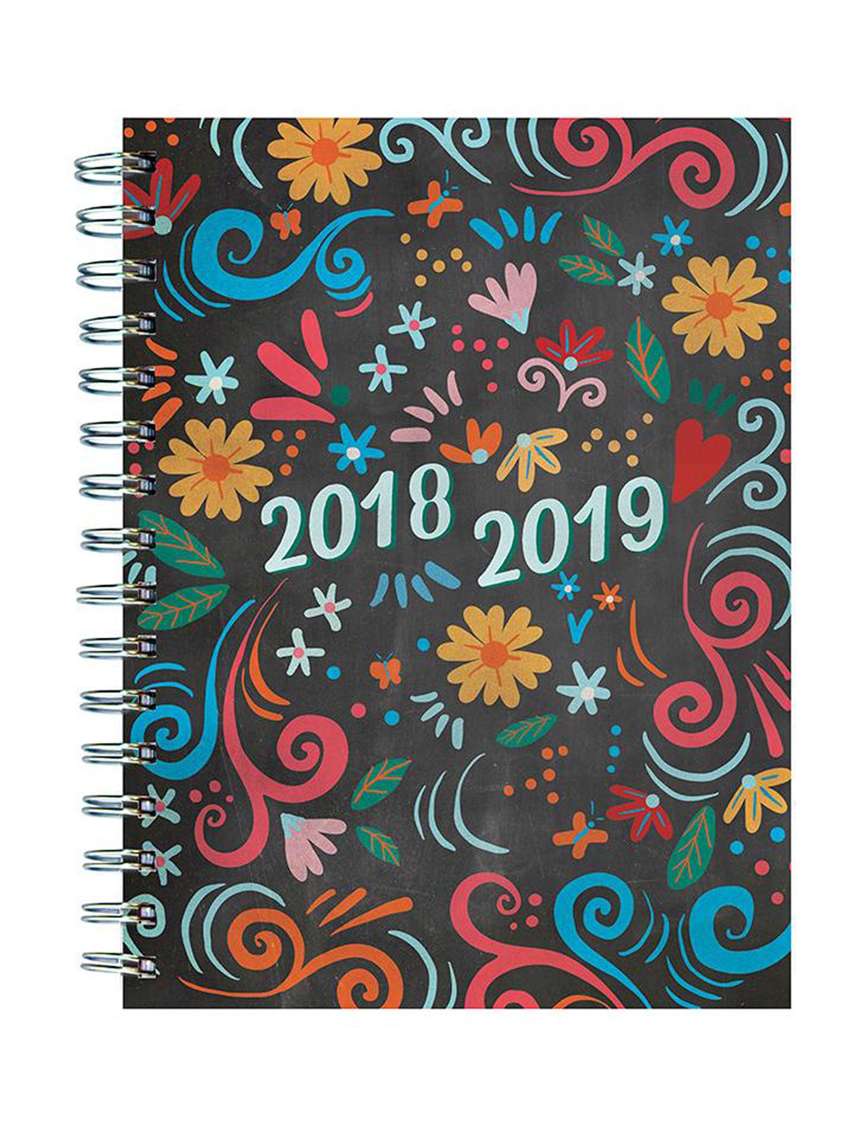 TF Publishing Black Multi Calendars & Planners School & Office Supplies